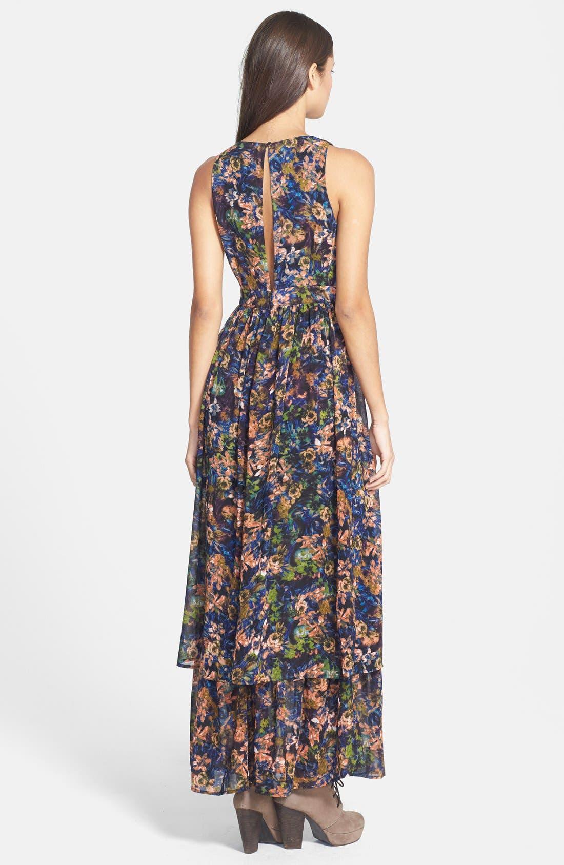 Alternate Image 2  - Sleeveless Slit Maxi Dress