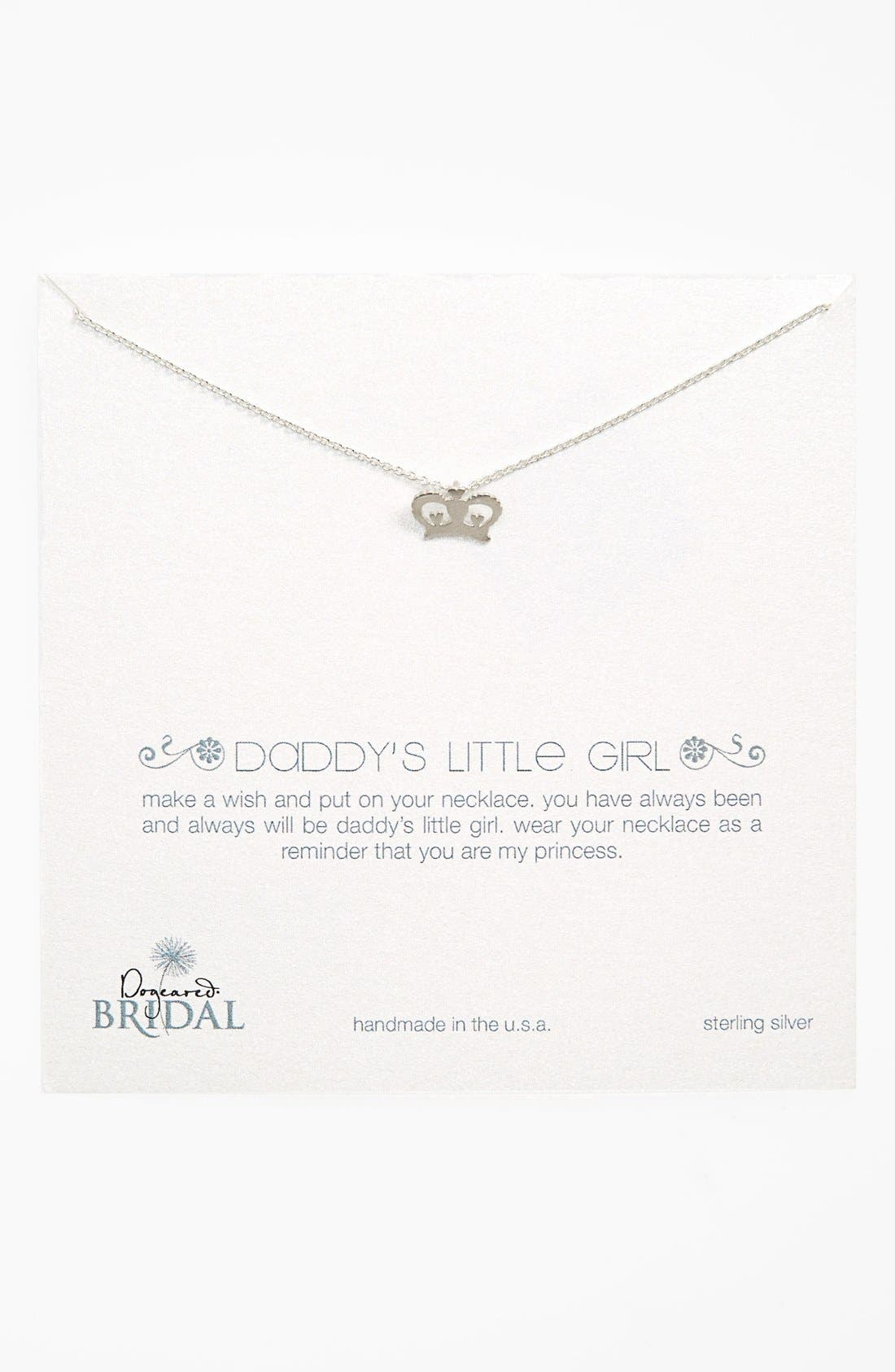 Alternate Image 1 Selected - Dogeared 'Daddy's Girl - Crown' Pendant Necklace (Nordstrom Exclusive)