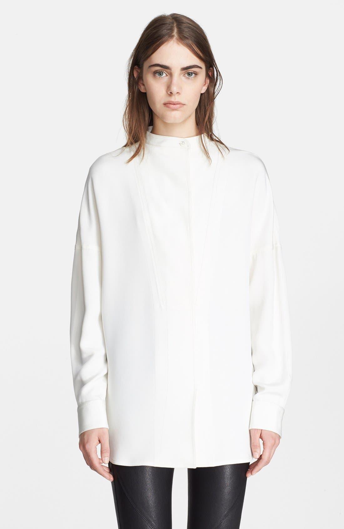 Alternate Image 1 Selected - Alexander Wang Oversize Silk Shirt