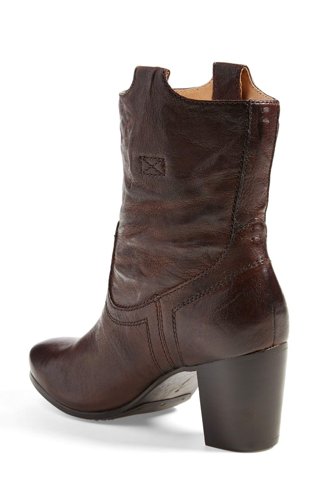 Alternate Image 2  - Frye 'Carson' Mid Heel Tab Short Boot (Women)