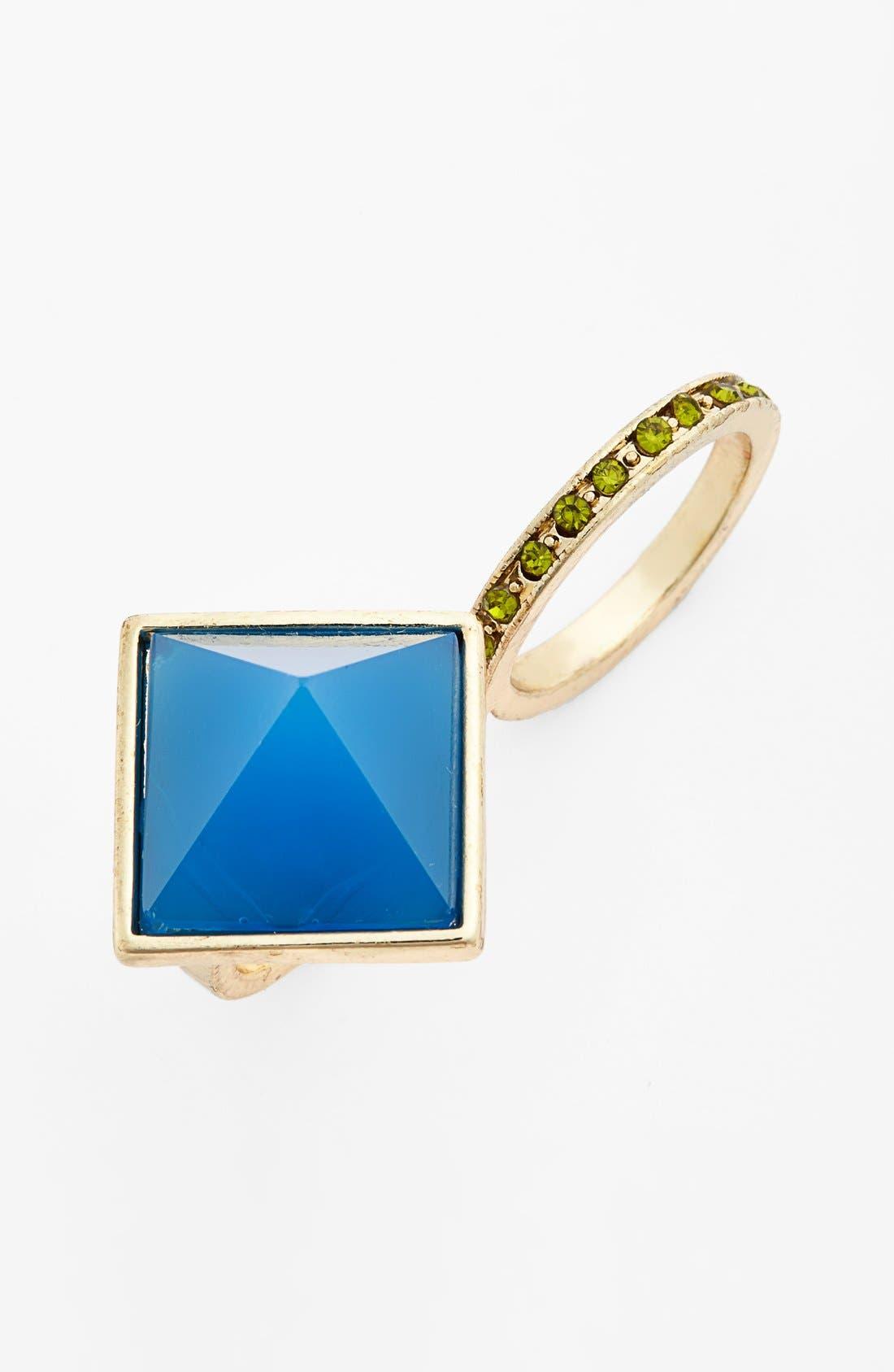 Alternate Image 1 Selected - Spring Street Two-Finger Ring