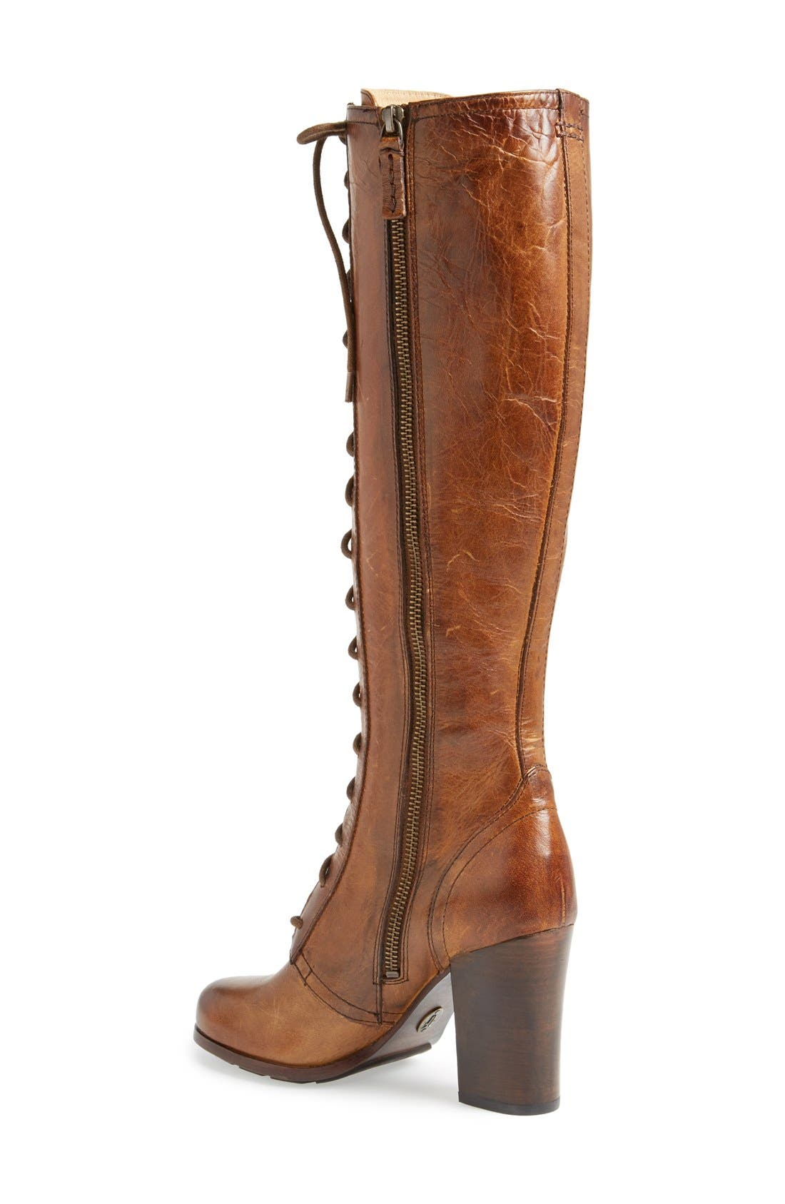 Alternate Image 2  - Frye 'Parker' Lace-Up Tall Boot (Women)