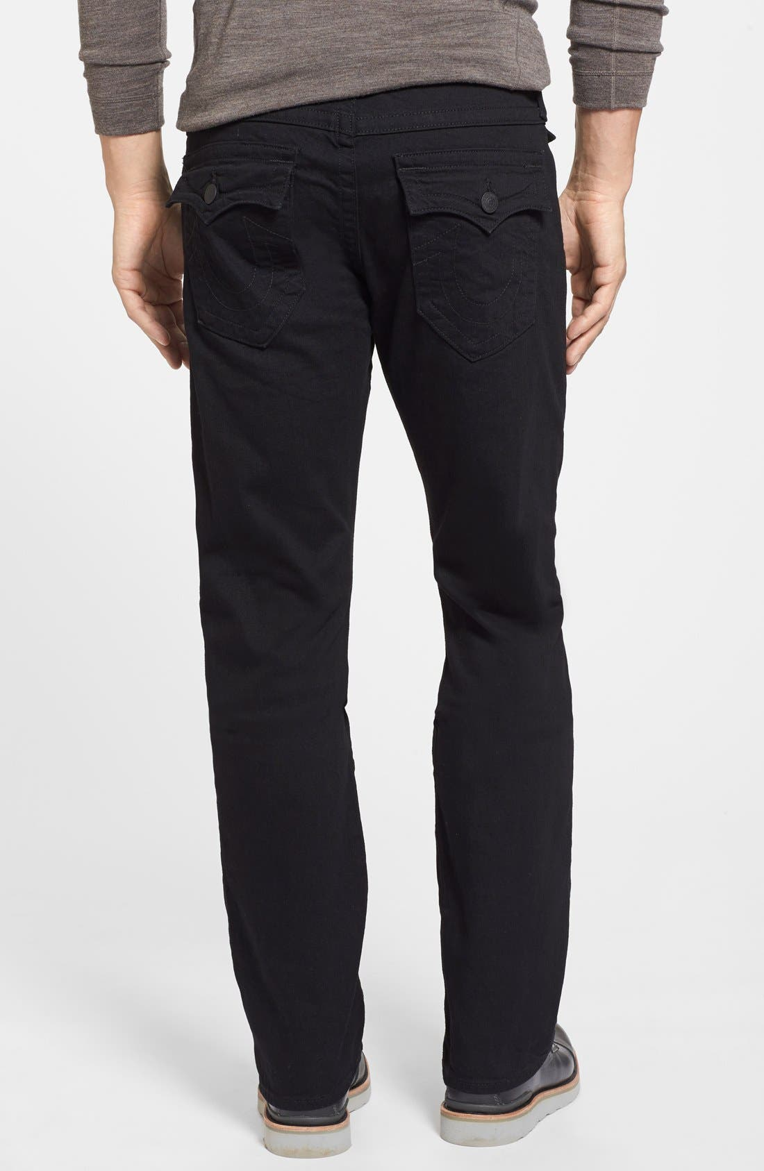 Alternate Image 2  - True Religion Brand Jeans Ricky Relaxed Fit Jeans (Midnight Black)