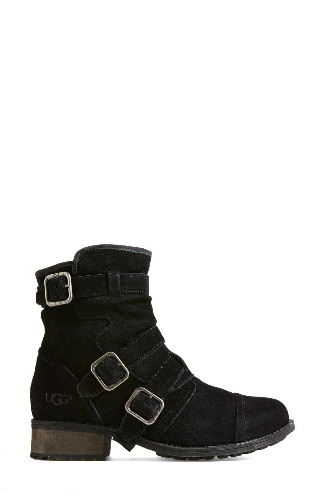 Alternate Image 7  - UGG® Australia 'Finney' Suede Moto Boot (Women)