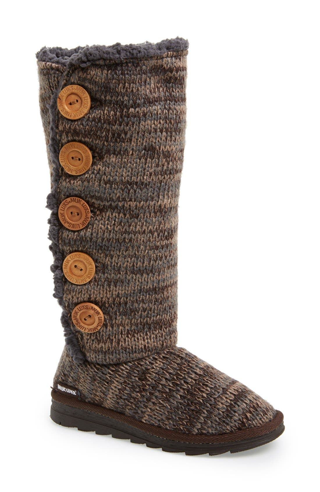 Main Image - MUK LUKS 'Malena' Button Up Crochet Boot (Women)