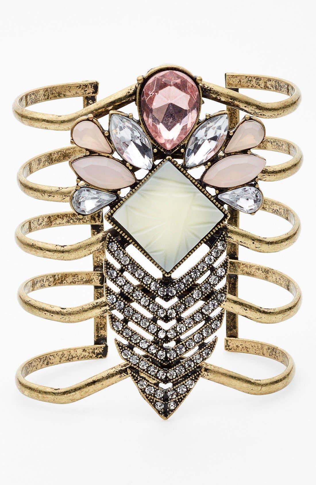 Alternate Image 1 Selected - Tildon Jewel Stone Statement Cuff