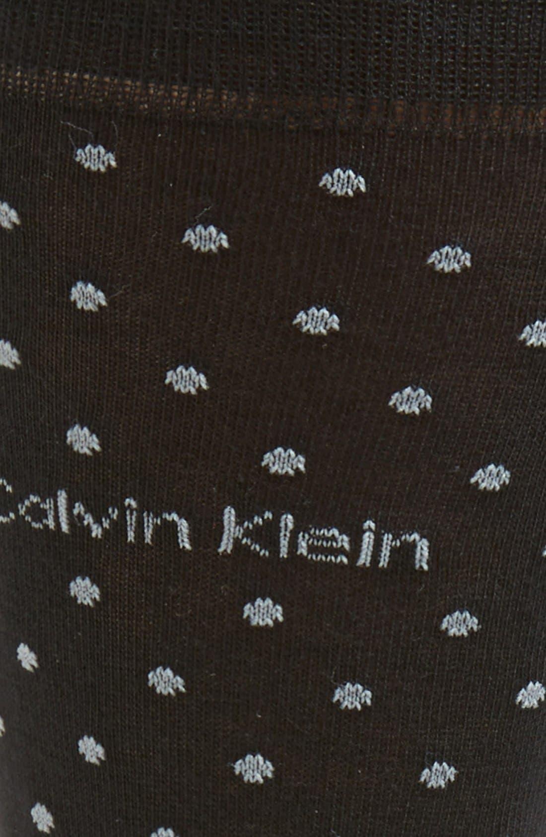 Alternate Image 3  - Calvin Klein Dot Socks