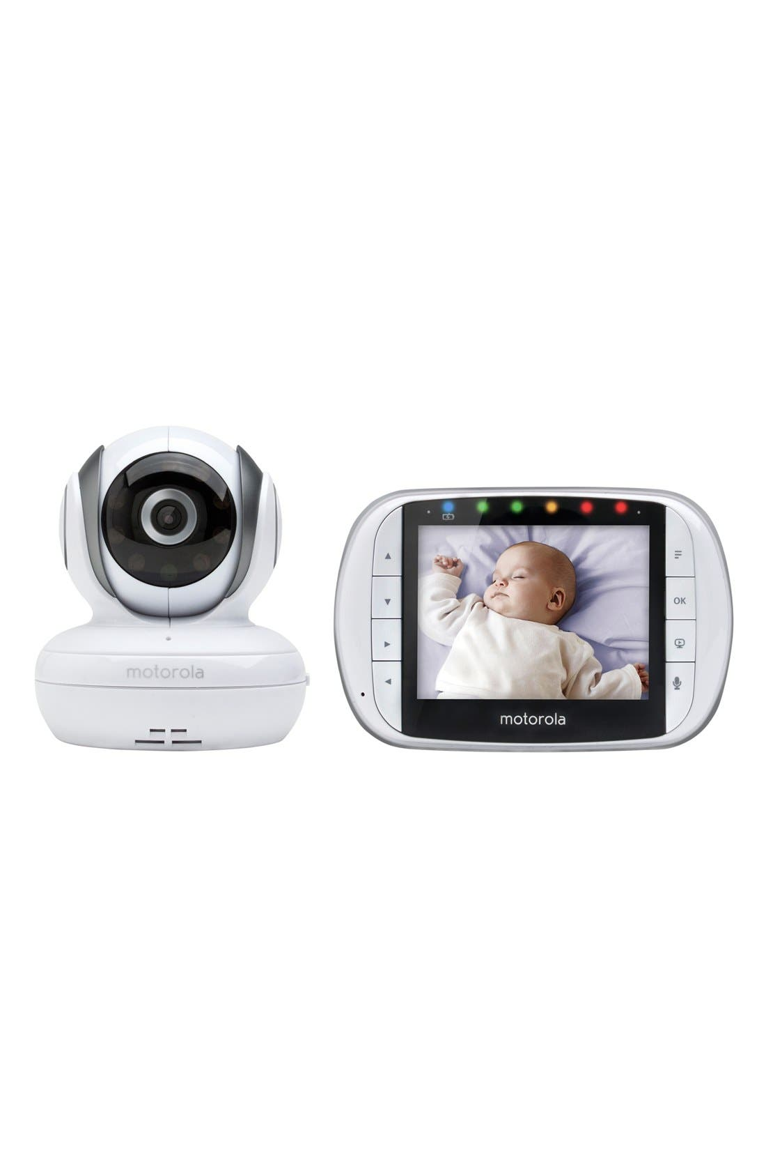 MBP36S Wireless Digital Infrared Video Baby Monitor,                         Main,                         color, White/ Grey Trim