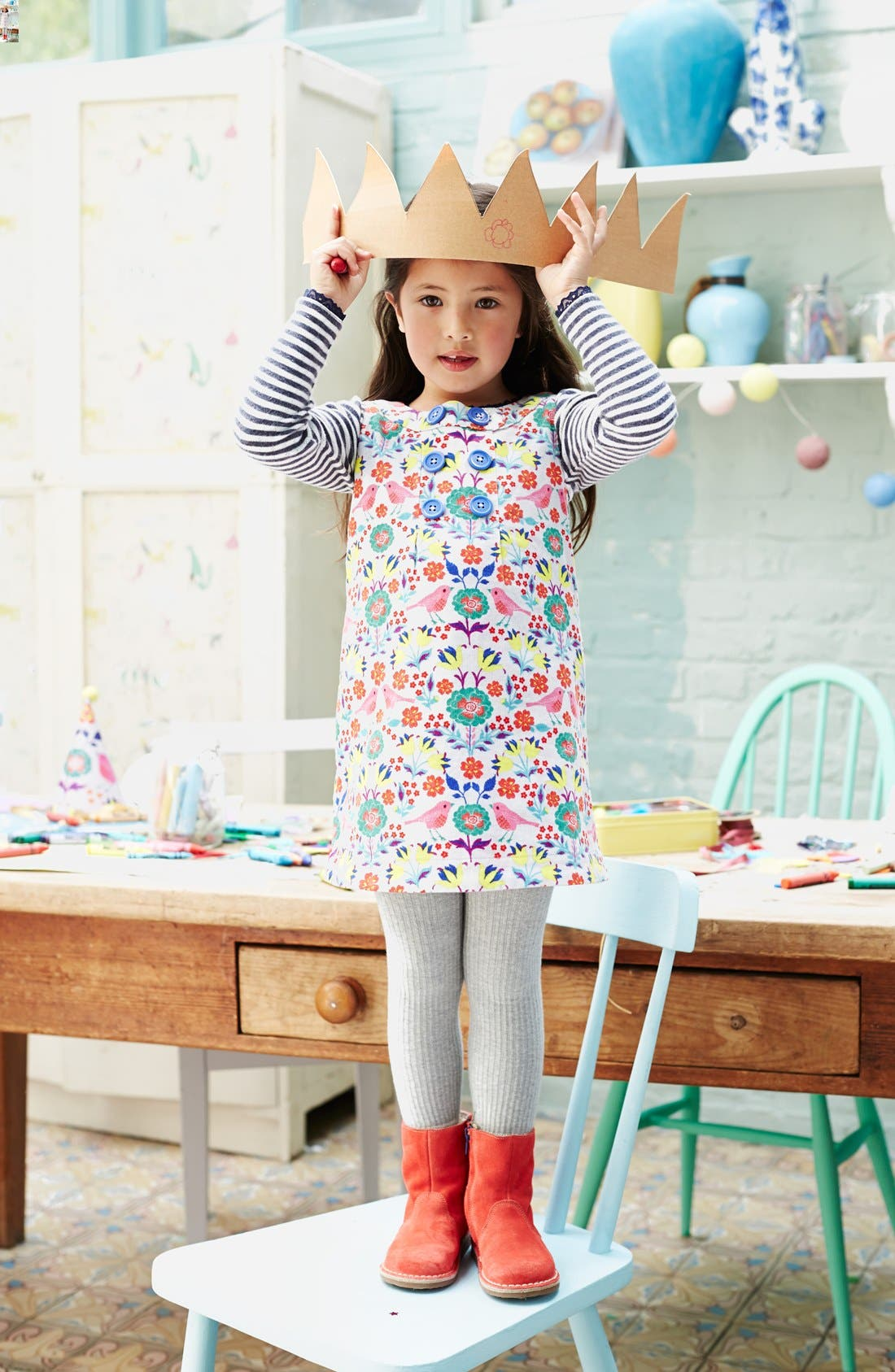 Alternate Image 2  - Mini Boden Sleeveless Corduroy Dress (Toddler Girls, Little Girls & Big Girls)