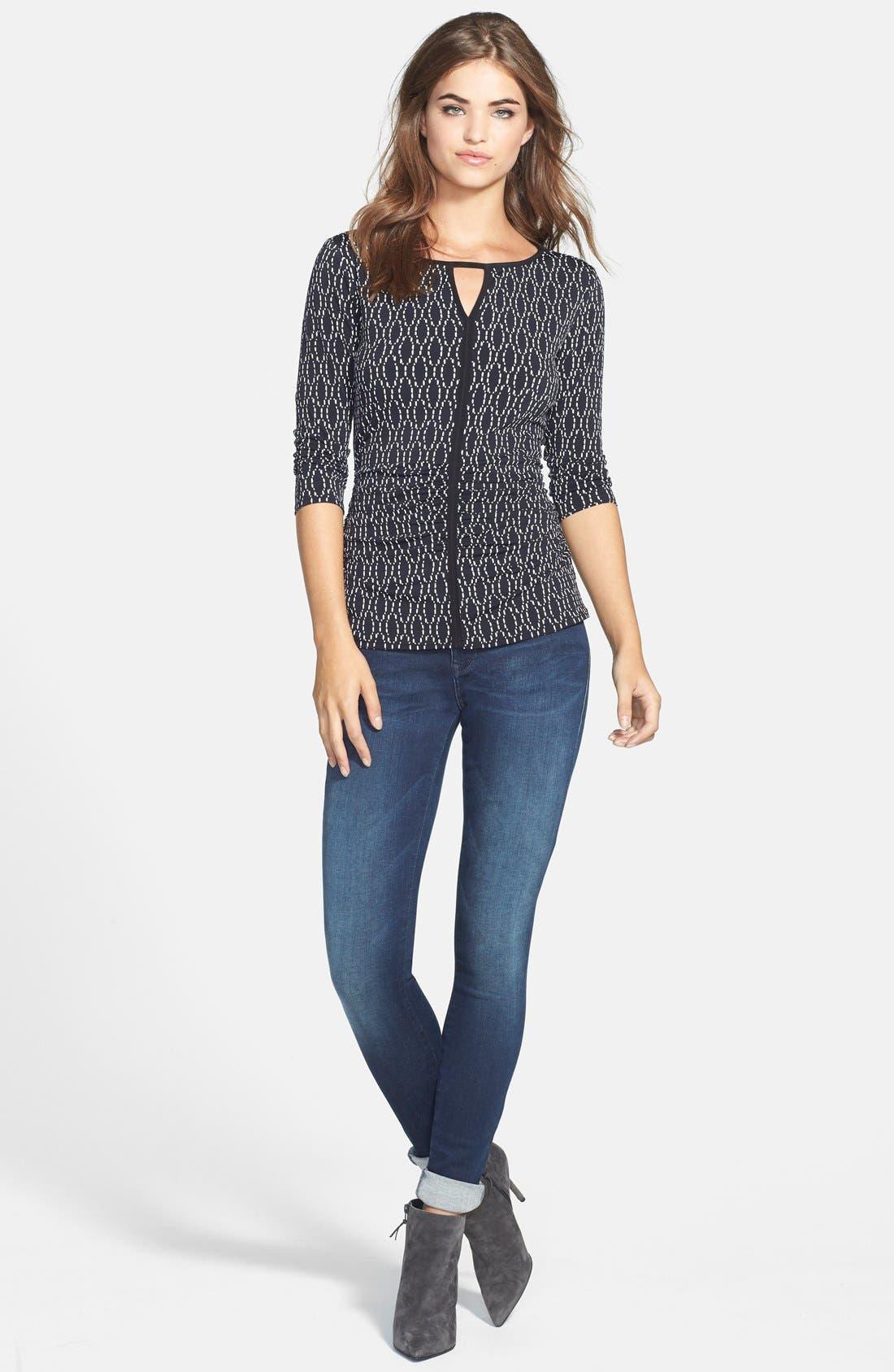 Alternate Image 4  - Mavi Jeans Gold 'Alexa' Stretch Skinny Jeans (Deep Reform)