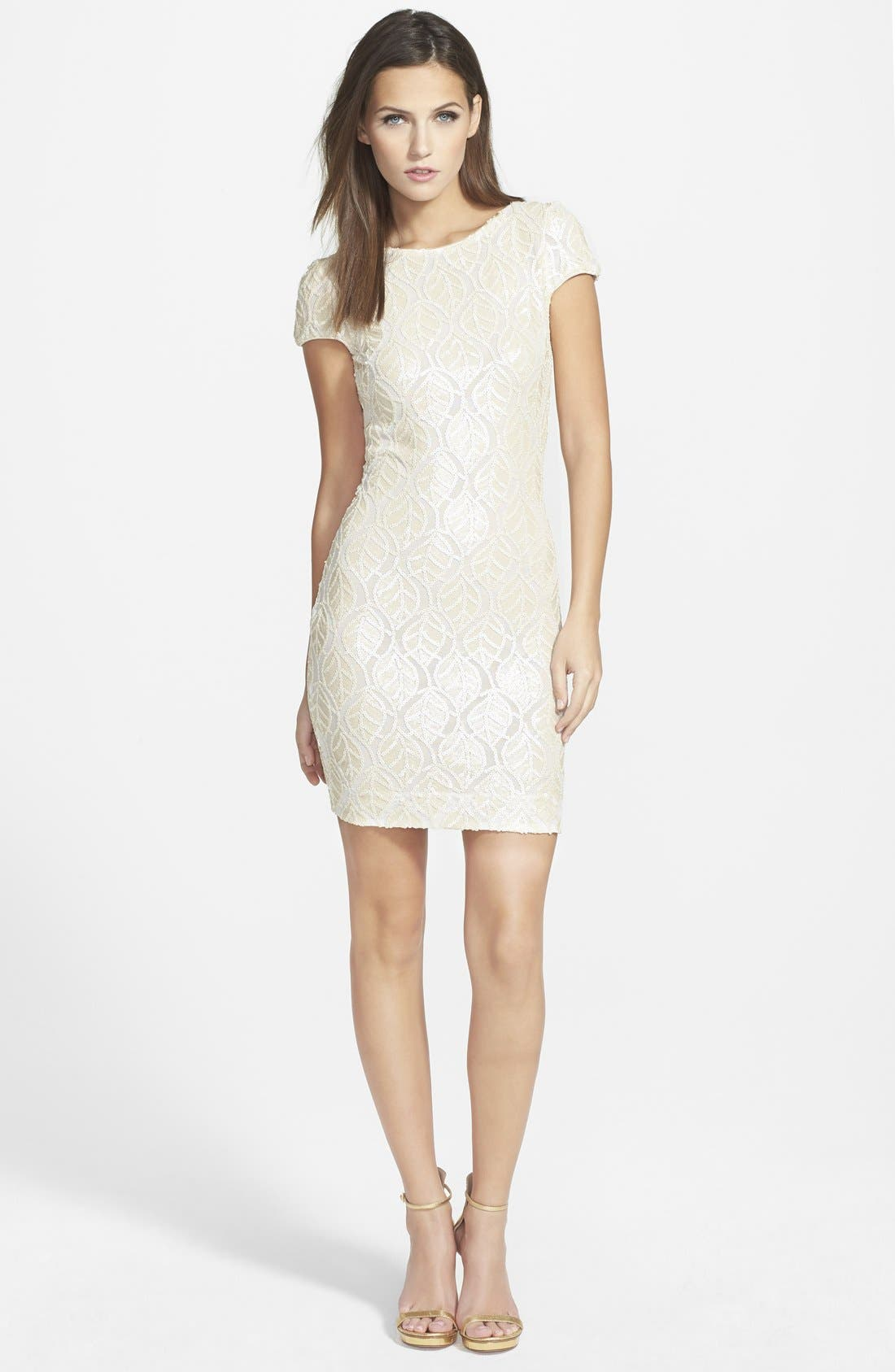 Alternate Image 3  - Dress the Population 'Tabitha' Sequin Minidress