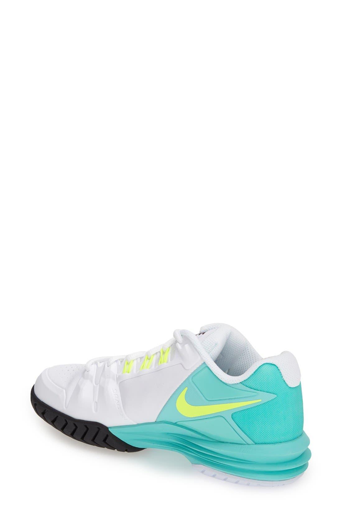 Alternate Image 2  - Nike 'Lunar Ballistec' Tennis Shoe (Women)