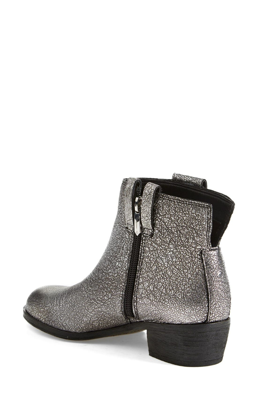 'James' Round Toe Bootie,                             Alternate thumbnail 2, color,                             Argento Silver