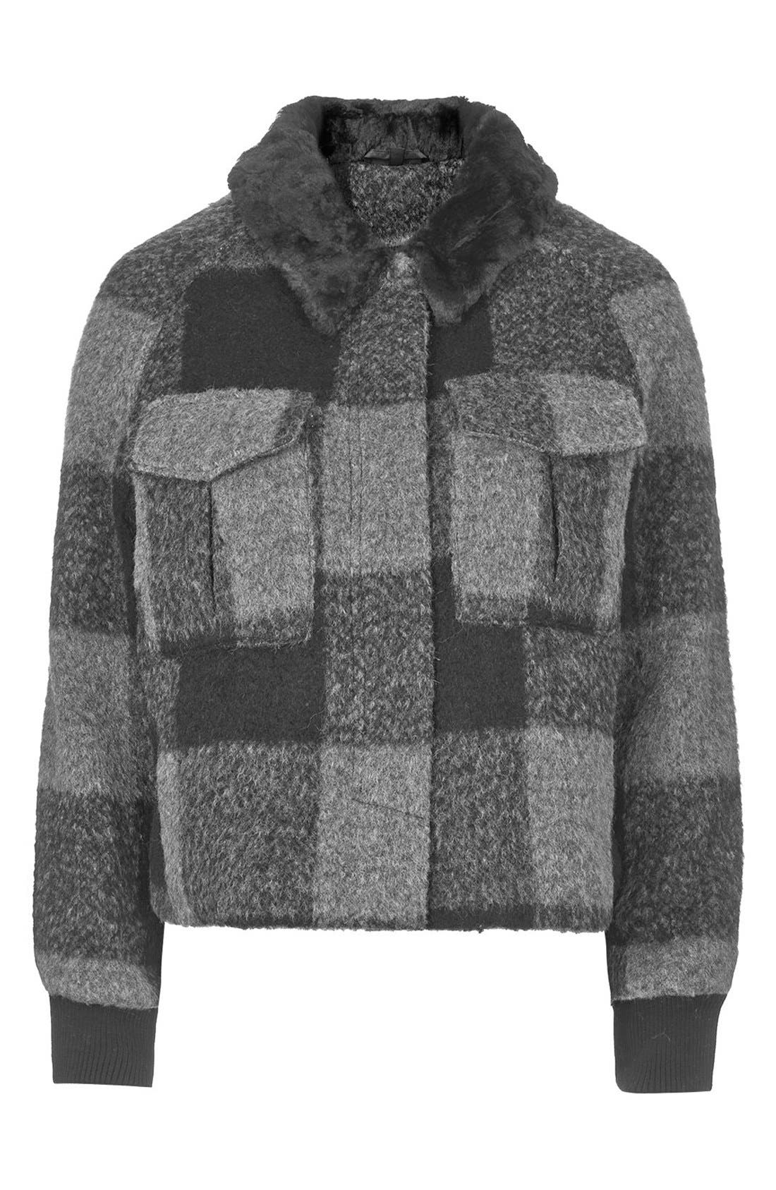 Alternate Image 3  - Topshop 'Harrington' Faux Fur Jacket