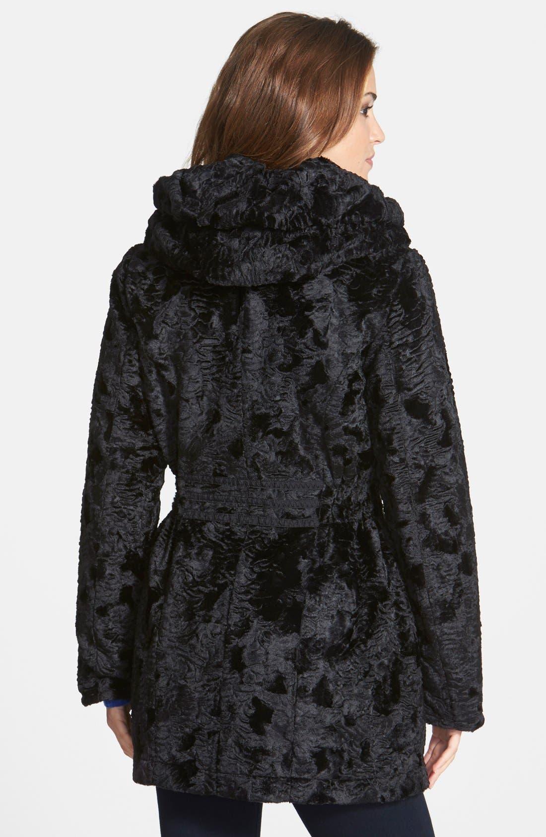 Alternate Image 3  - Laundry by Shelli Segal Reversible Faux Persian Lamb Fur Coat