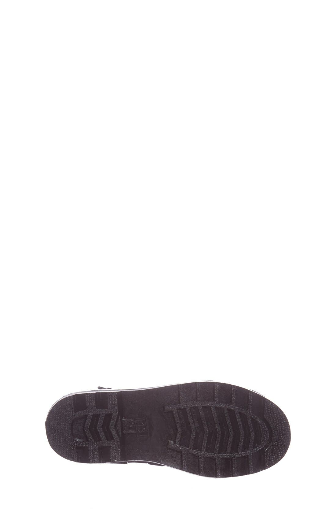 'Daisy Logo' Rain Boot,                             Alternate thumbnail 4, color,                             Black