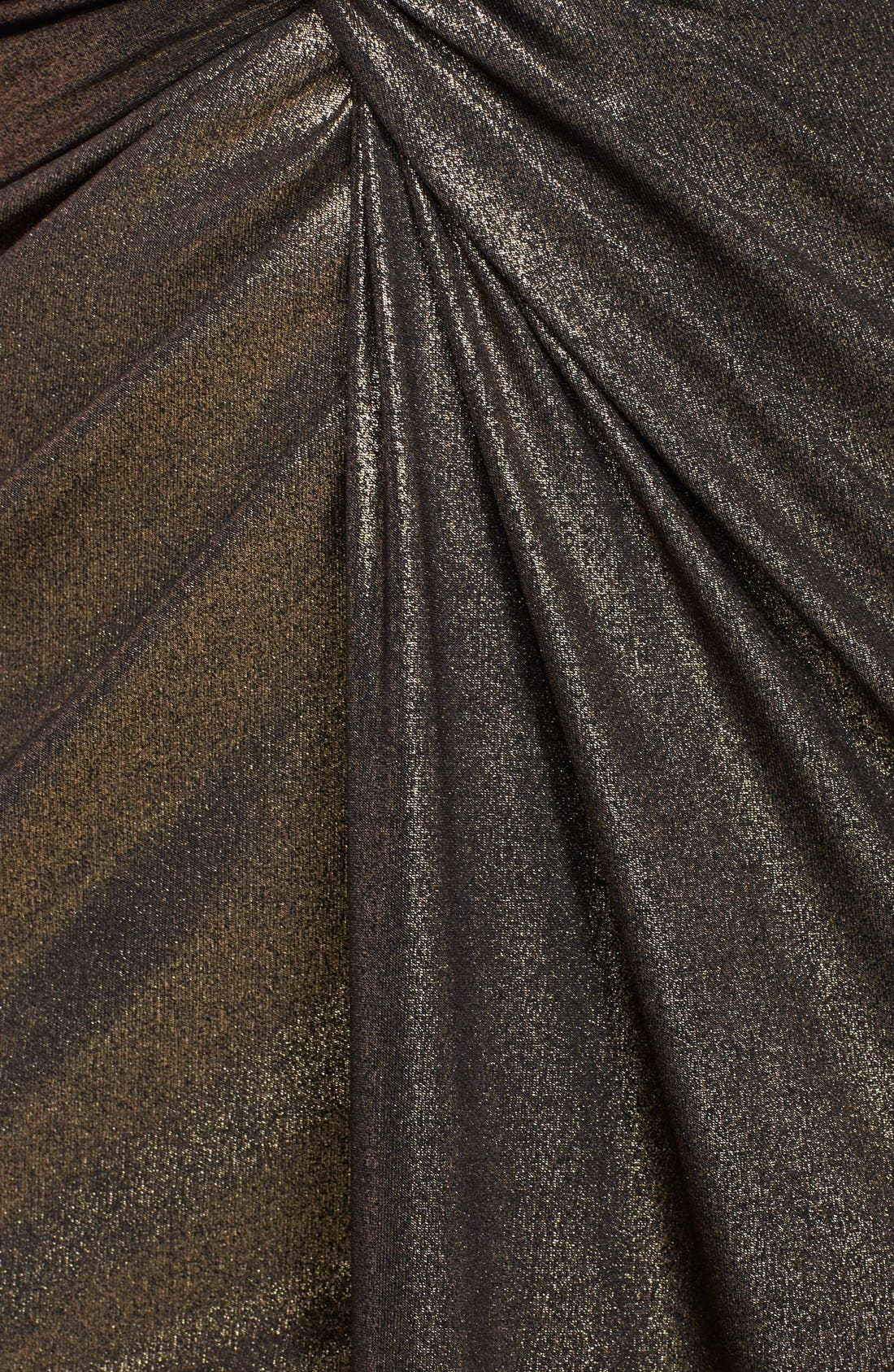 Alternate Image 3  - Halston Heritage Metallic Twist Front Halter Gown