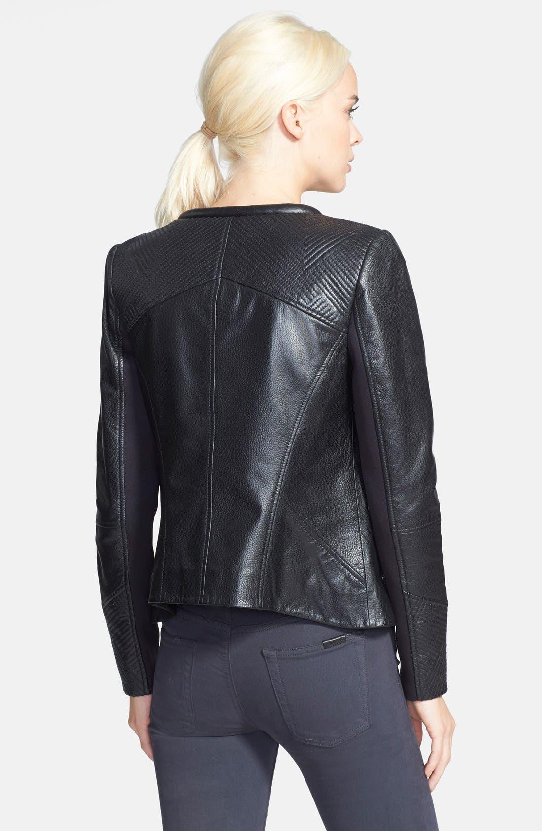 Alternate Image 2  - Trouvé Stitch Detail Leather Jacket