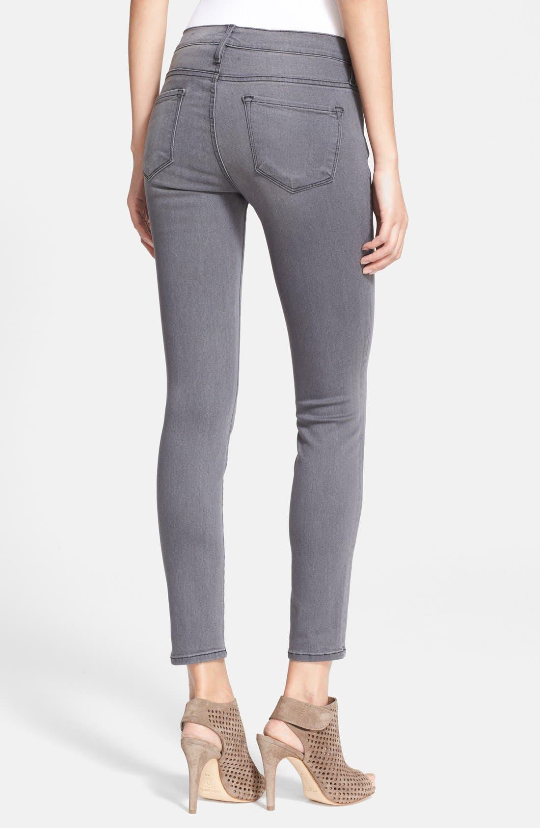 'Le Skinny' Sateen Skinny Jeans,                             Alternate thumbnail 2, color,                             Greys Inn
