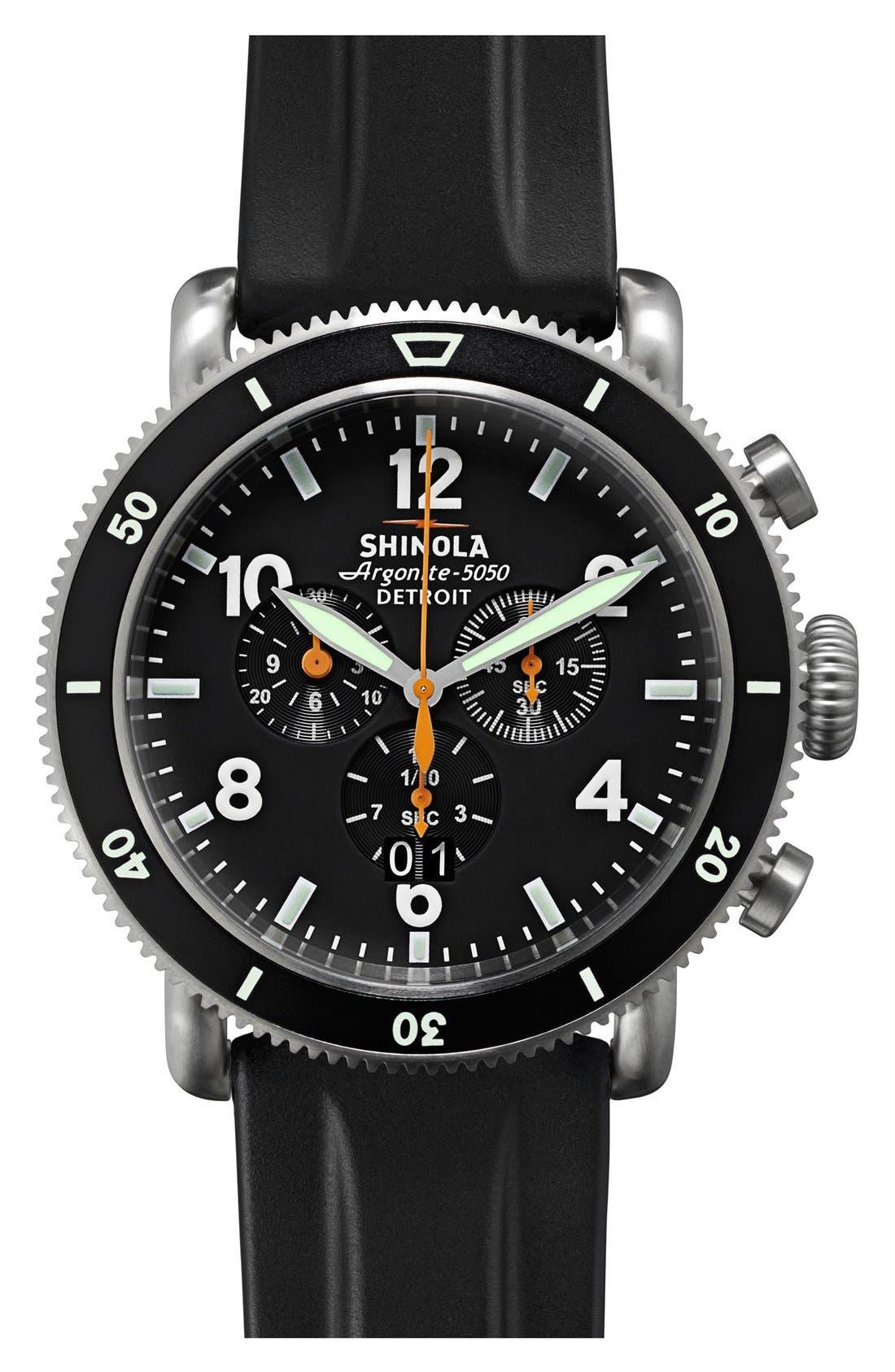 Alternate Image 2  - Shinola 'The Black Blizzard' Chronograph Interchangeable Strap Watch, 48mm (Limited Edition)