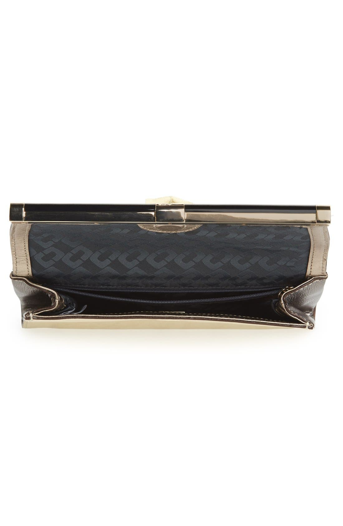 '440 - Mixed Metallic' Envelope Clutch,                             Alternate thumbnail 3, color,                             Tinsel/ Light Gold/ Pewter