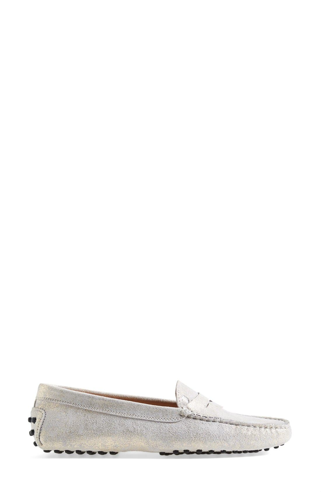 Alternate Image 3  - Tod's 'Gommini' Metallic Suede Penny Loafer (Women)