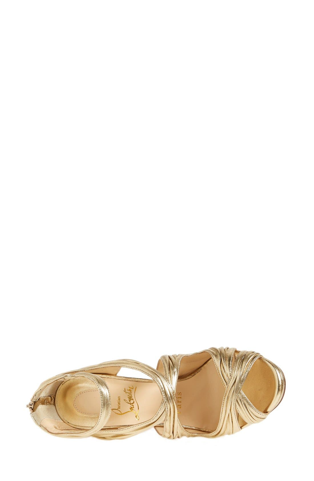 Alternate Image 3  - Christian Louboutin 'Kashou' Metallic Nappa Leather Sandal