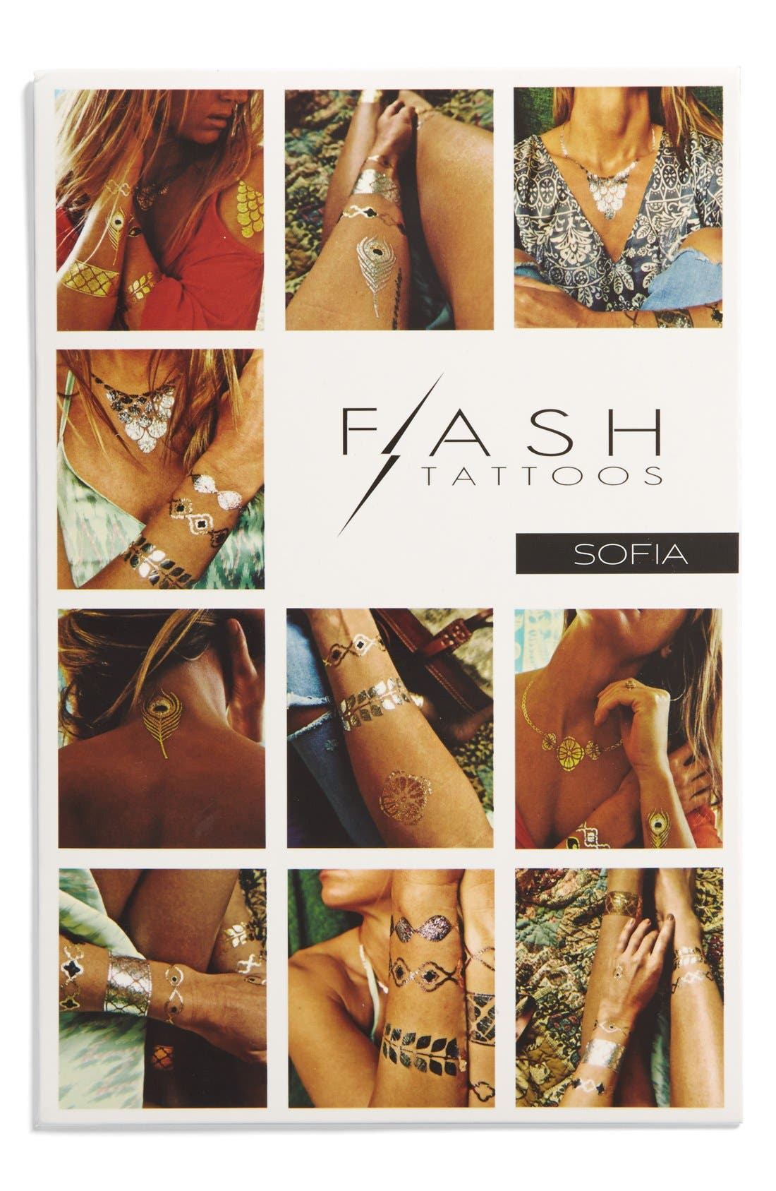 Main Image - Flash Tattoos 'Sofia' Temporary Tattoos