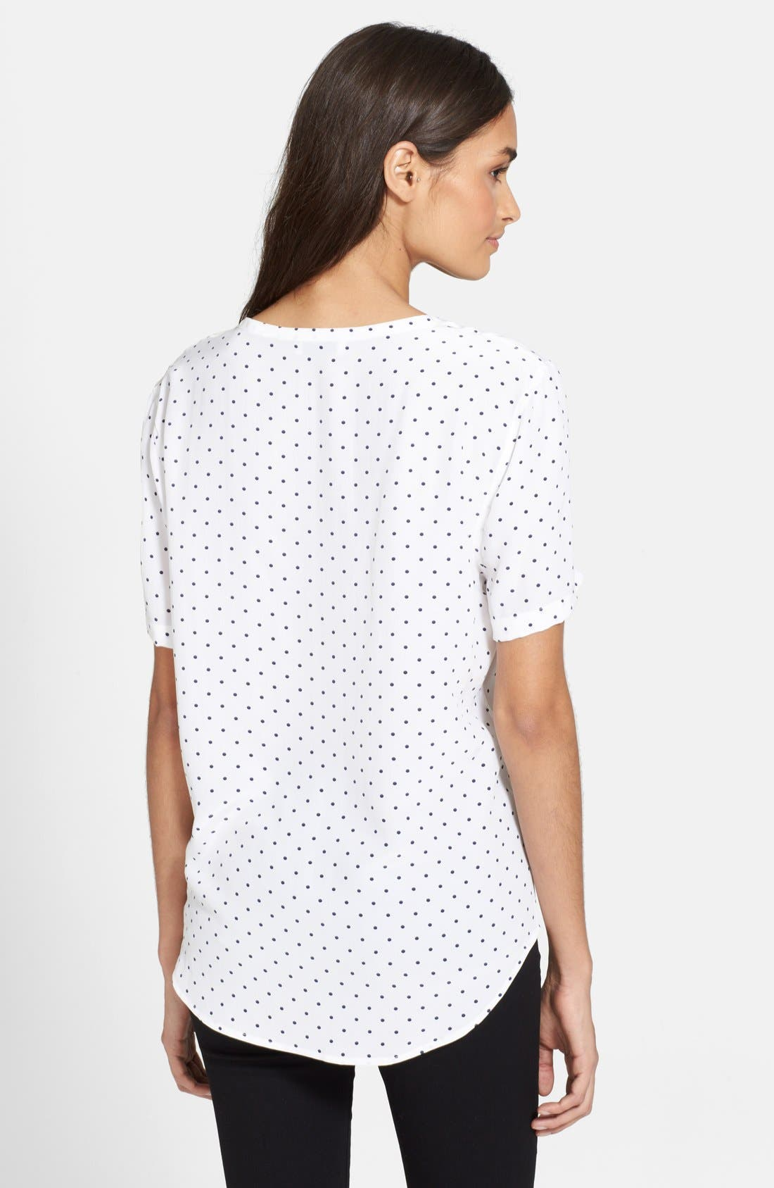 Alternate Image 2  - Equipment 'Riley - Uniform Dot' Silk Tee