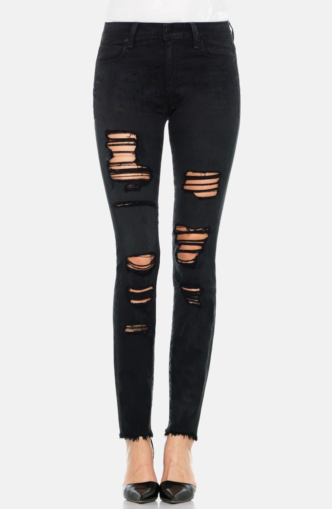 Main Image - Joe's 'Finn' Destructed Skinny Ankle Jeans (Braelyn)