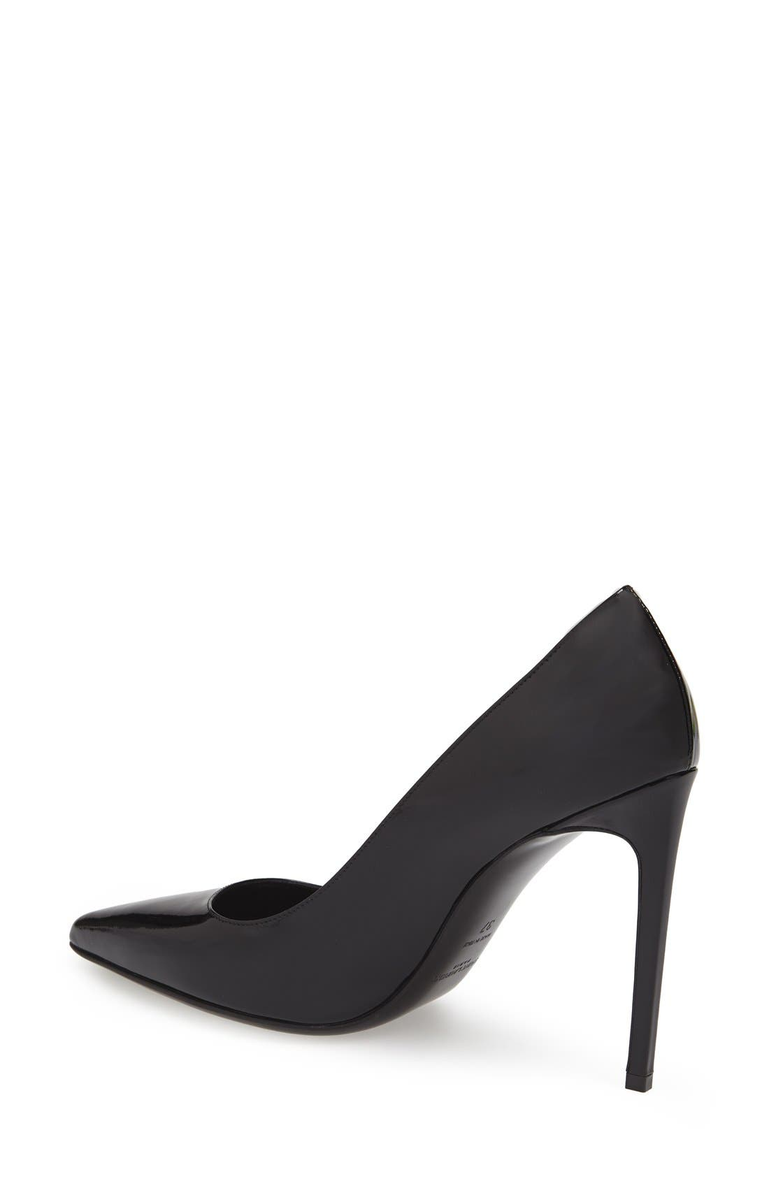 'Paris Skinny' Pointy Toe Pump,                             Alternate thumbnail 2, color,                             Black