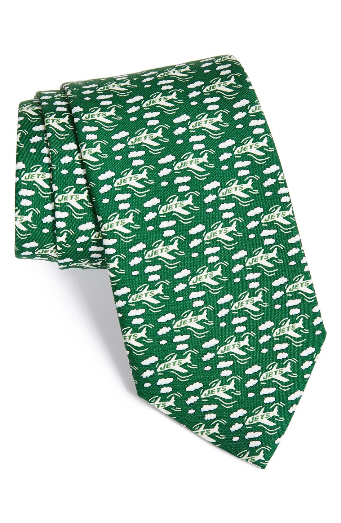 New York Jets - NFL Woven Silk Tie,                             Main thumbnail 1, color,                             Green