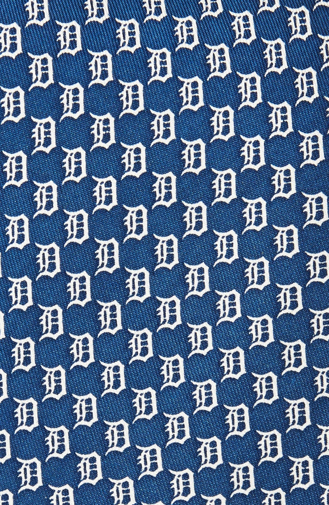 'Detroit Tigers - MLB' Woven Silk Tie,                             Alternate thumbnail 2, color,                             Vineyard Navy