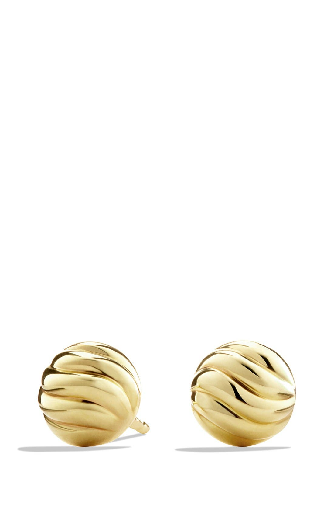 'Sculpted Cable' Stud Earring in Gold,                         Main,                         color, Gold