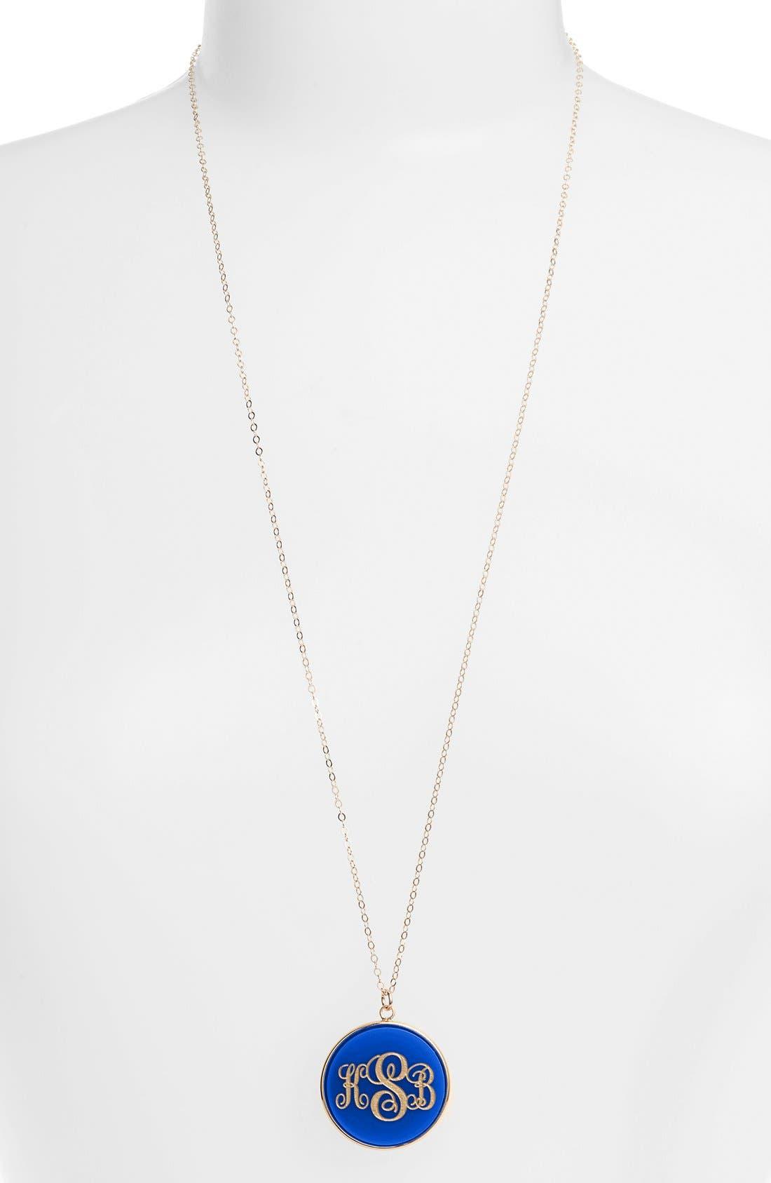 Moon and Lola 'Vineyard' Personalized Monogram Pendant Necklace