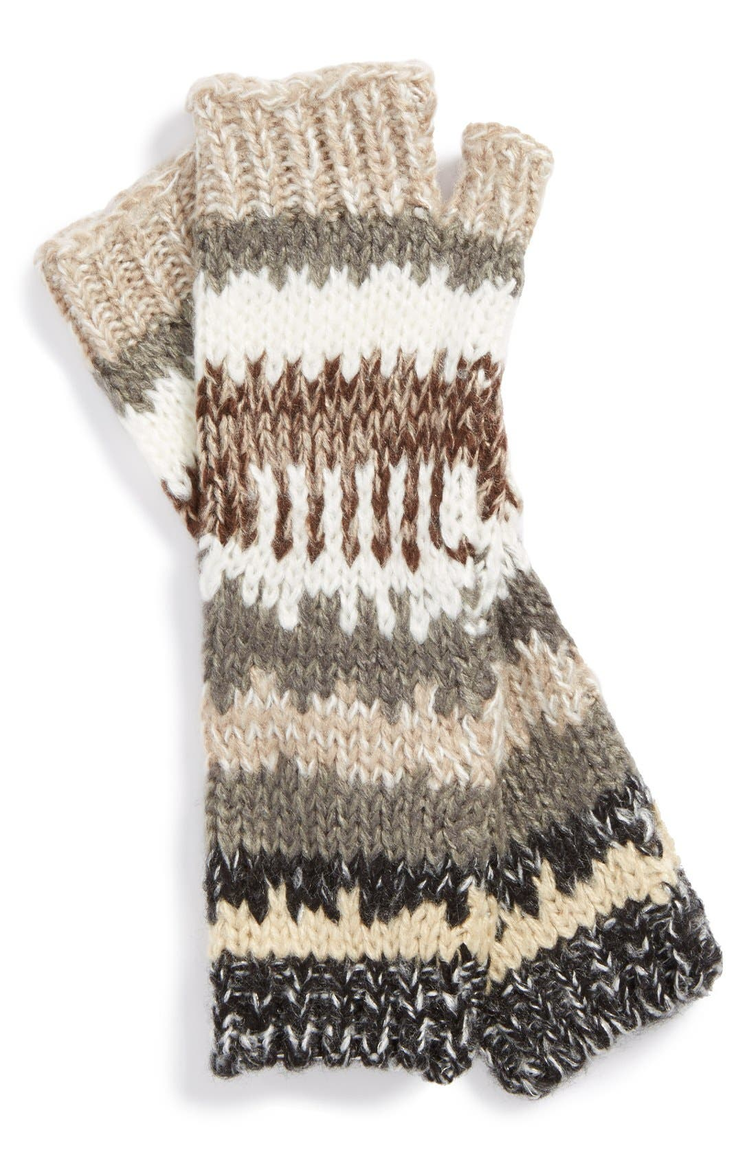 Main Image - Michael Stars Stripe Fingerless Gloves