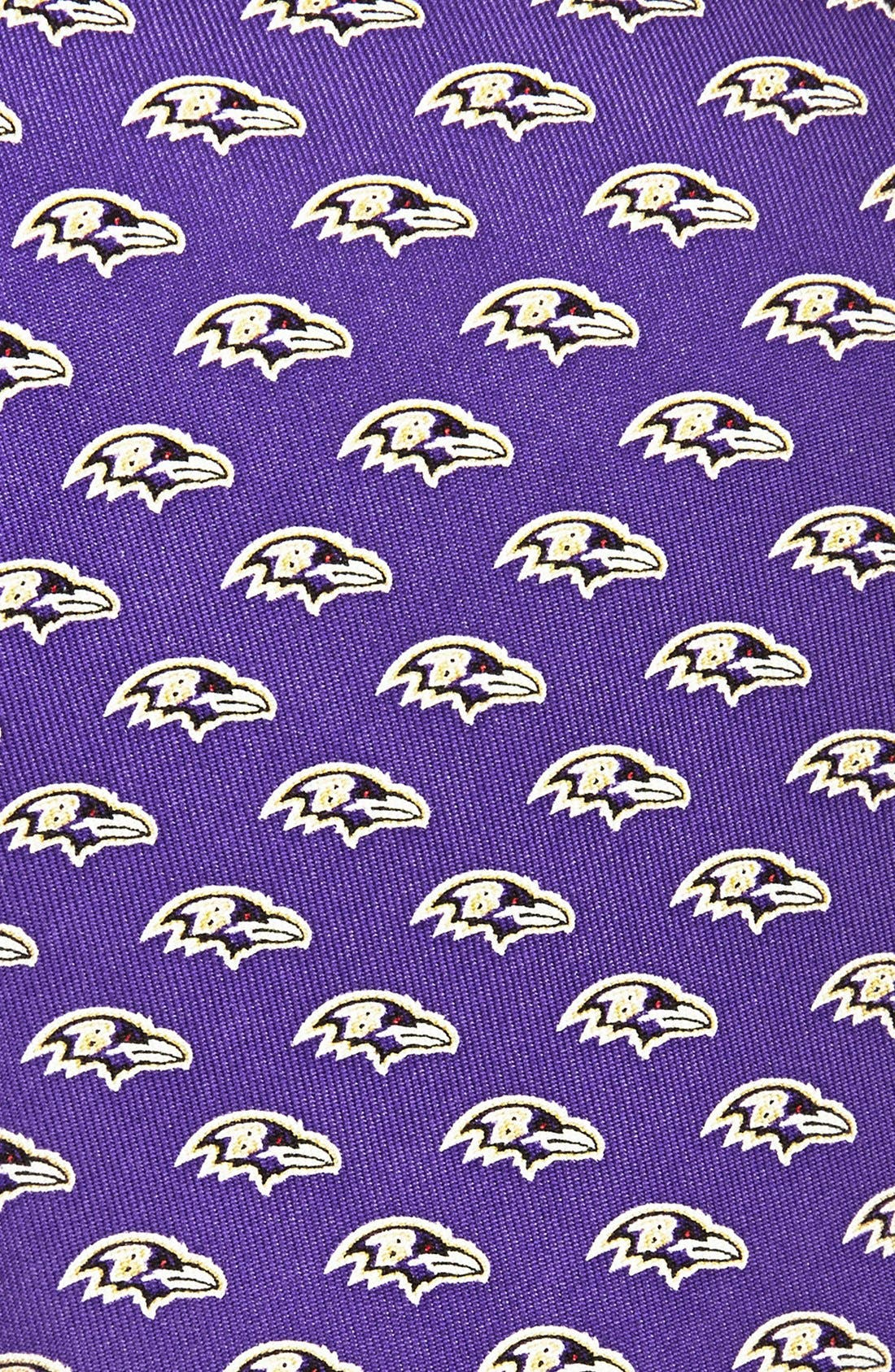 Baltimore Ravens - NFL Woven Silk Tie,                             Alternate thumbnail 2, color,                             Purple