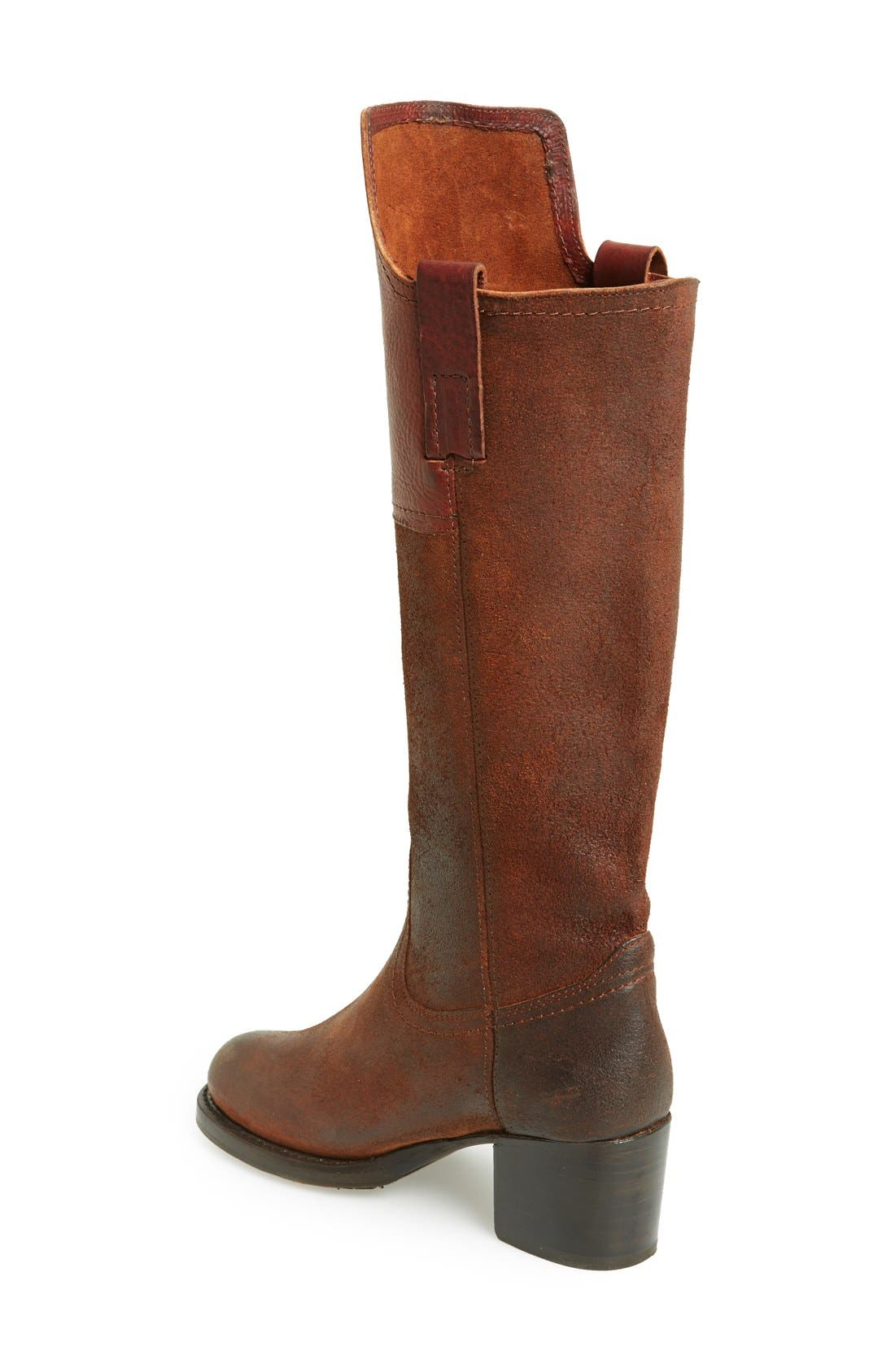 Alternate Image 2  - Frye 'Autumn Shield' Tall Suede & Leather Boot (Women)