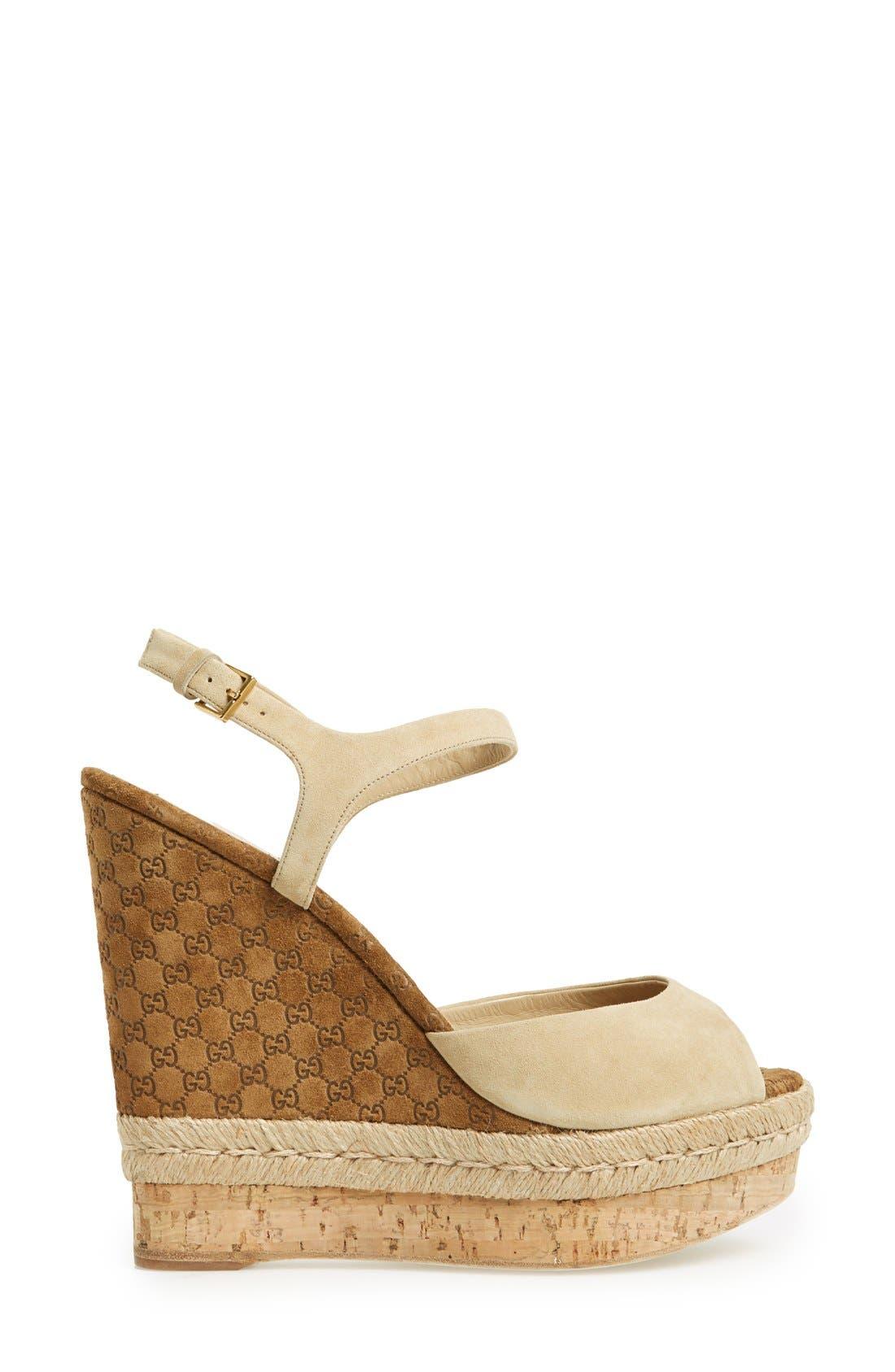 Alternate Image 4  - Gucci 'Hollie' Wedge Sandal (Women)