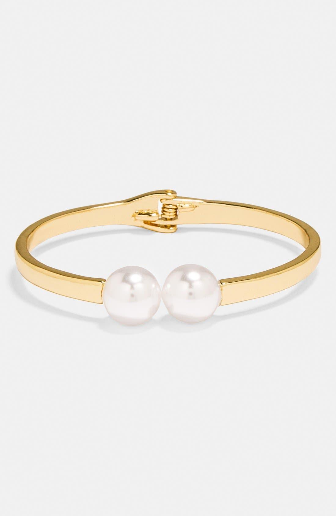 Alternate Image 3  - BaubleBar 'Trending: Modern Pearly Bead' Necklace, Bracelet & Ear Jacket Gift Set