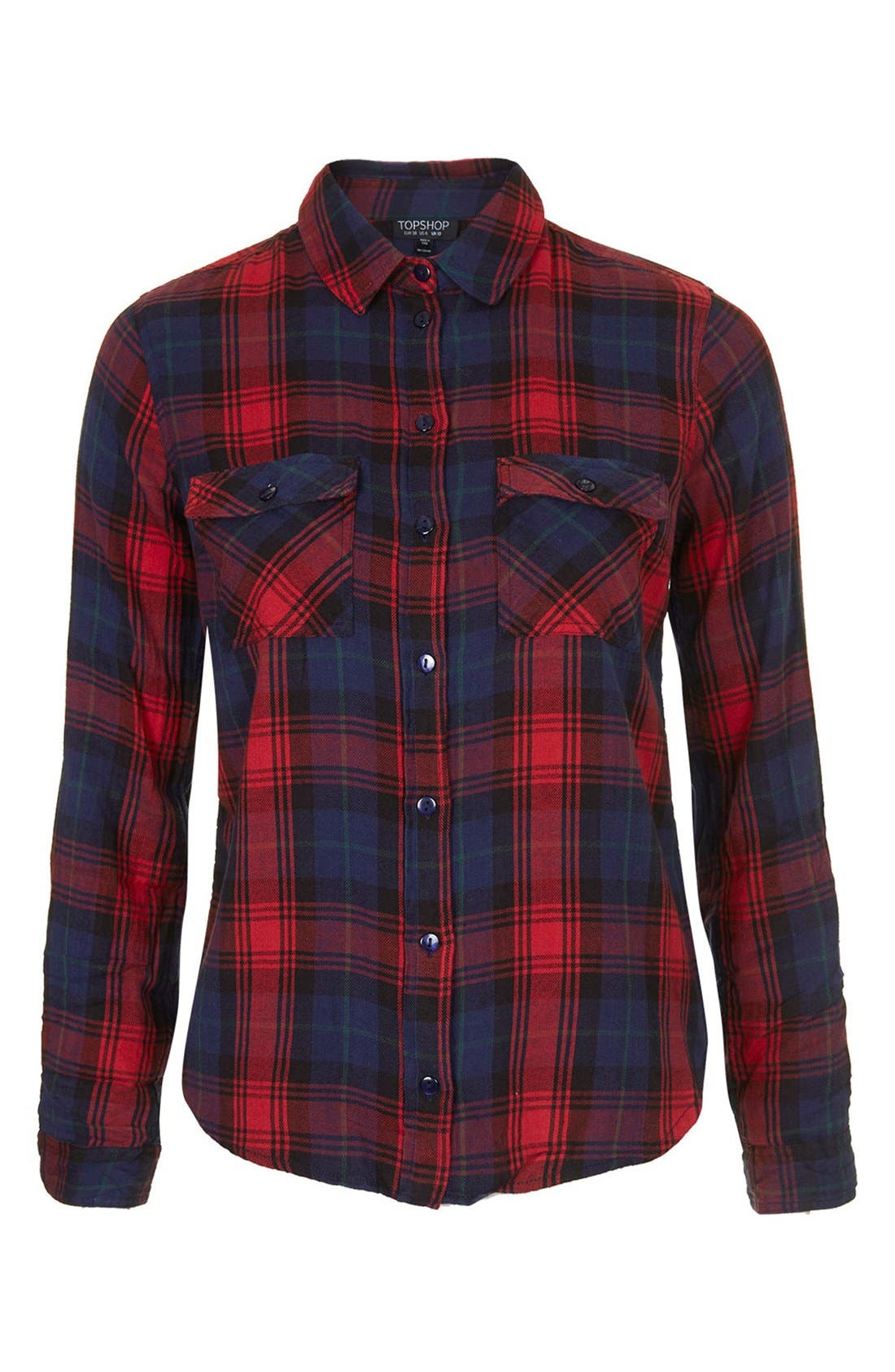 Alternate Image 3  - Topshop 'Izzy' Long Sleeve Check Shirt