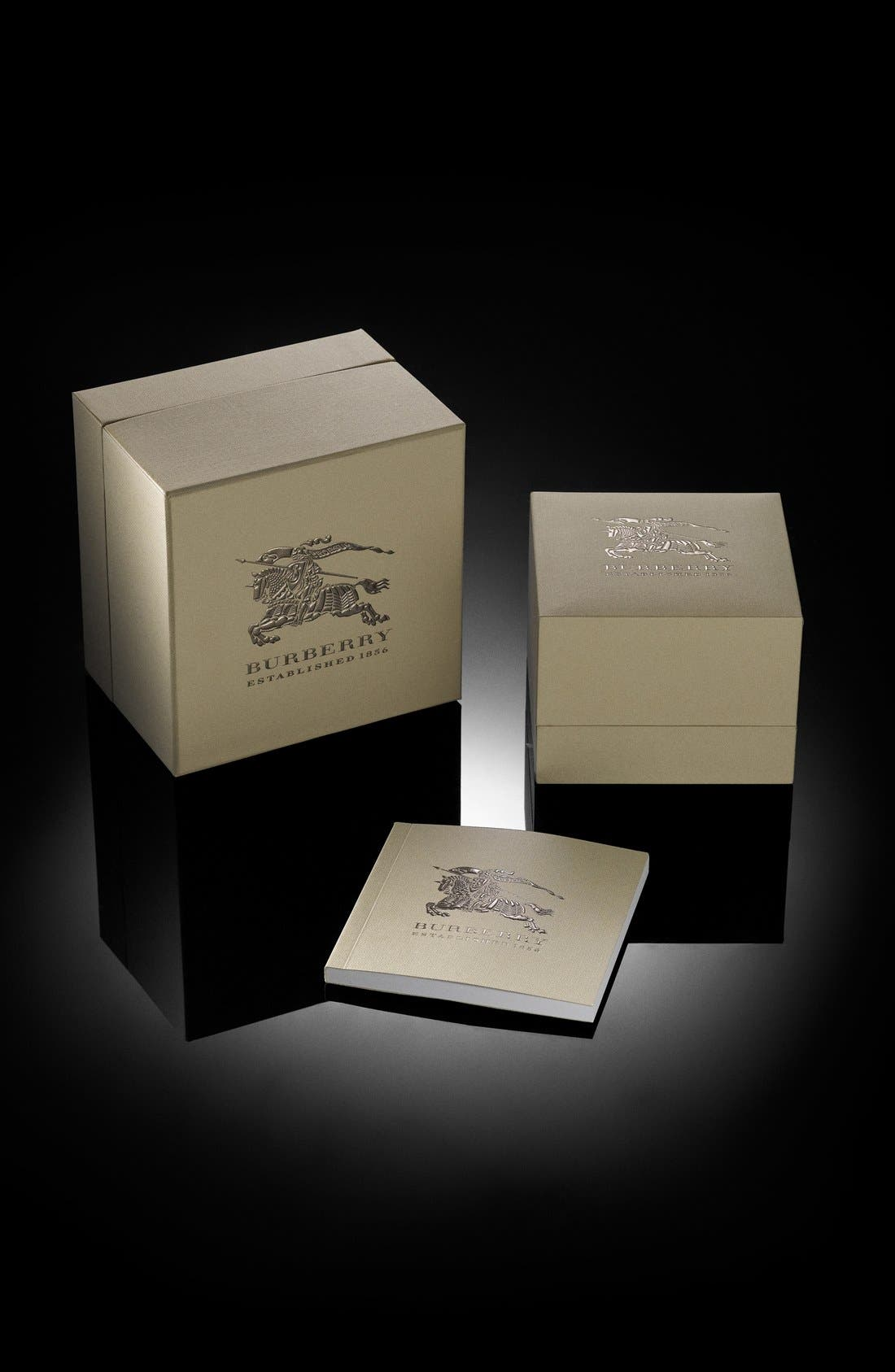 Alternate Image 6  - Burberry The Britain Ceramic Link Bracelet Watch, 34mm