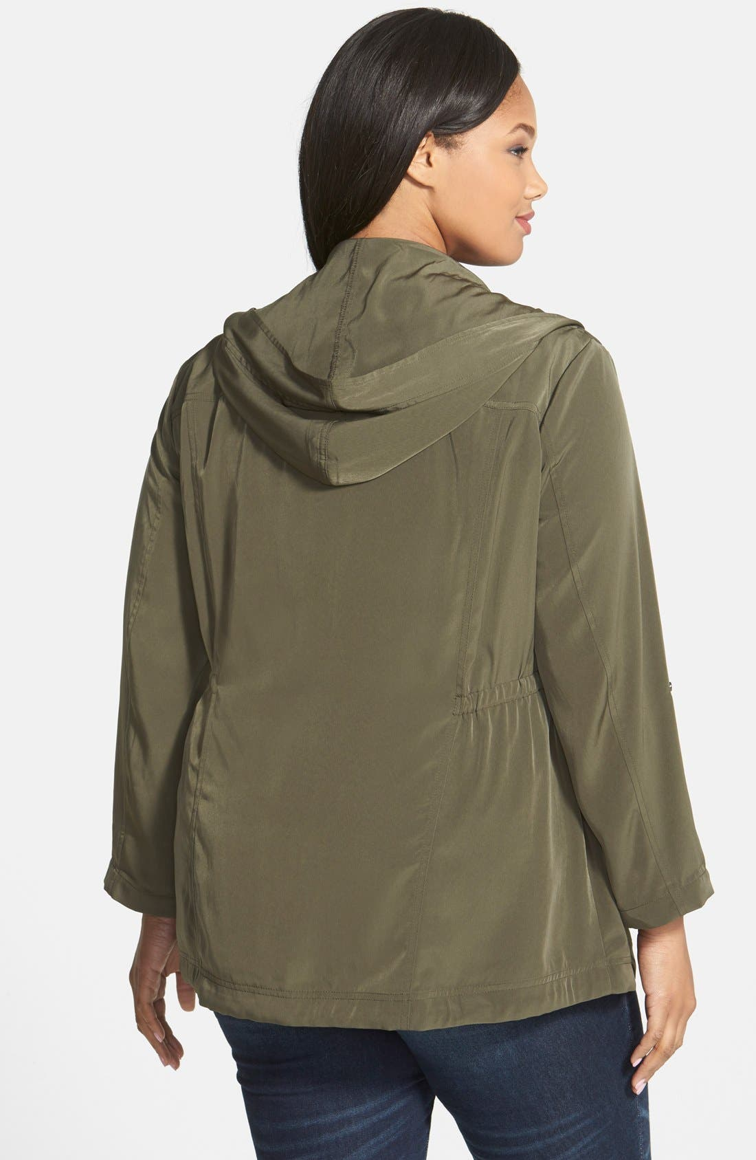 Alternate Image 2  - Sejour 'Nobel Track' Hooded Jacket (Plus Size)