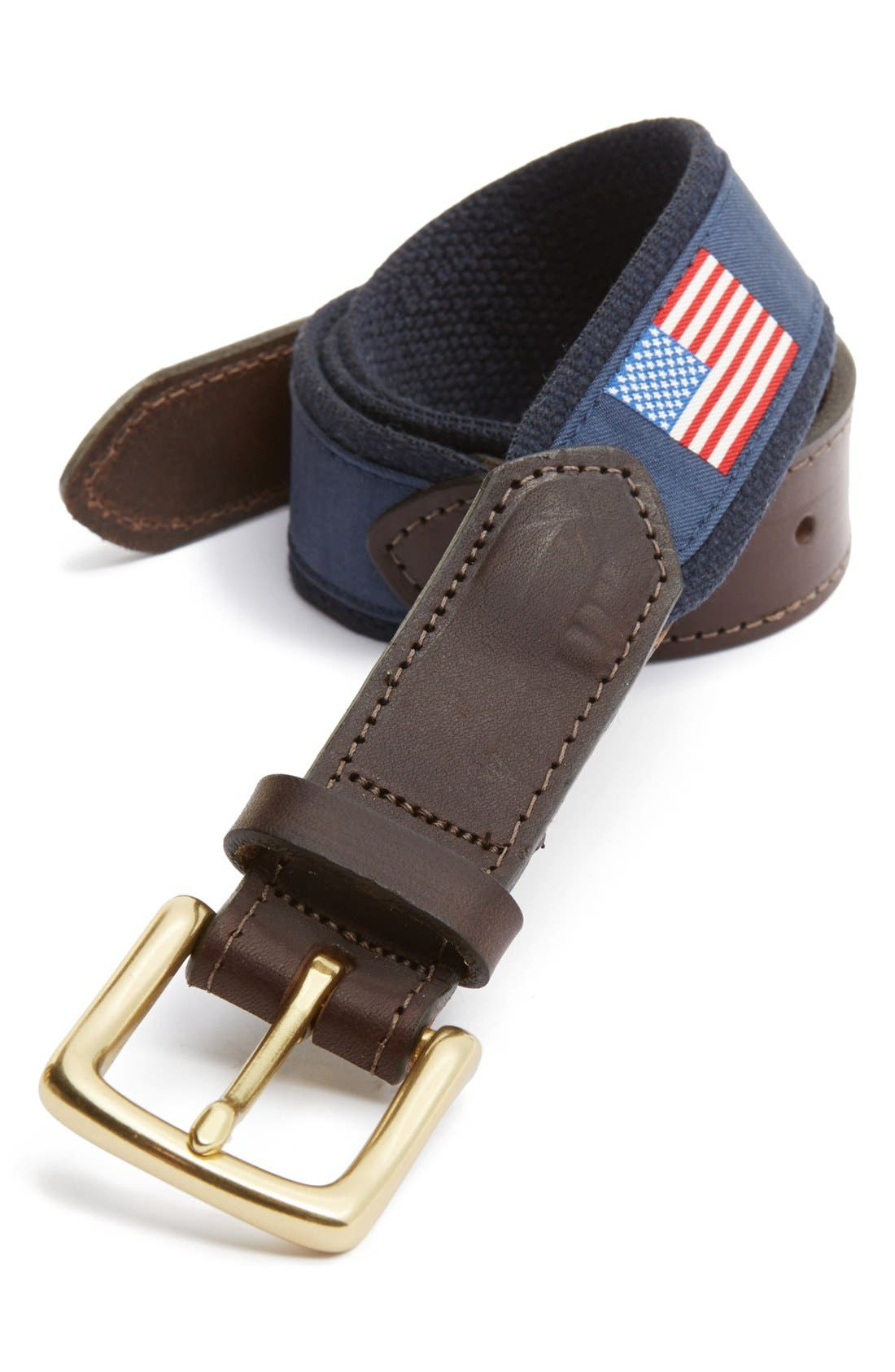 Flags Club Belt,                         Main,                         color, Navy