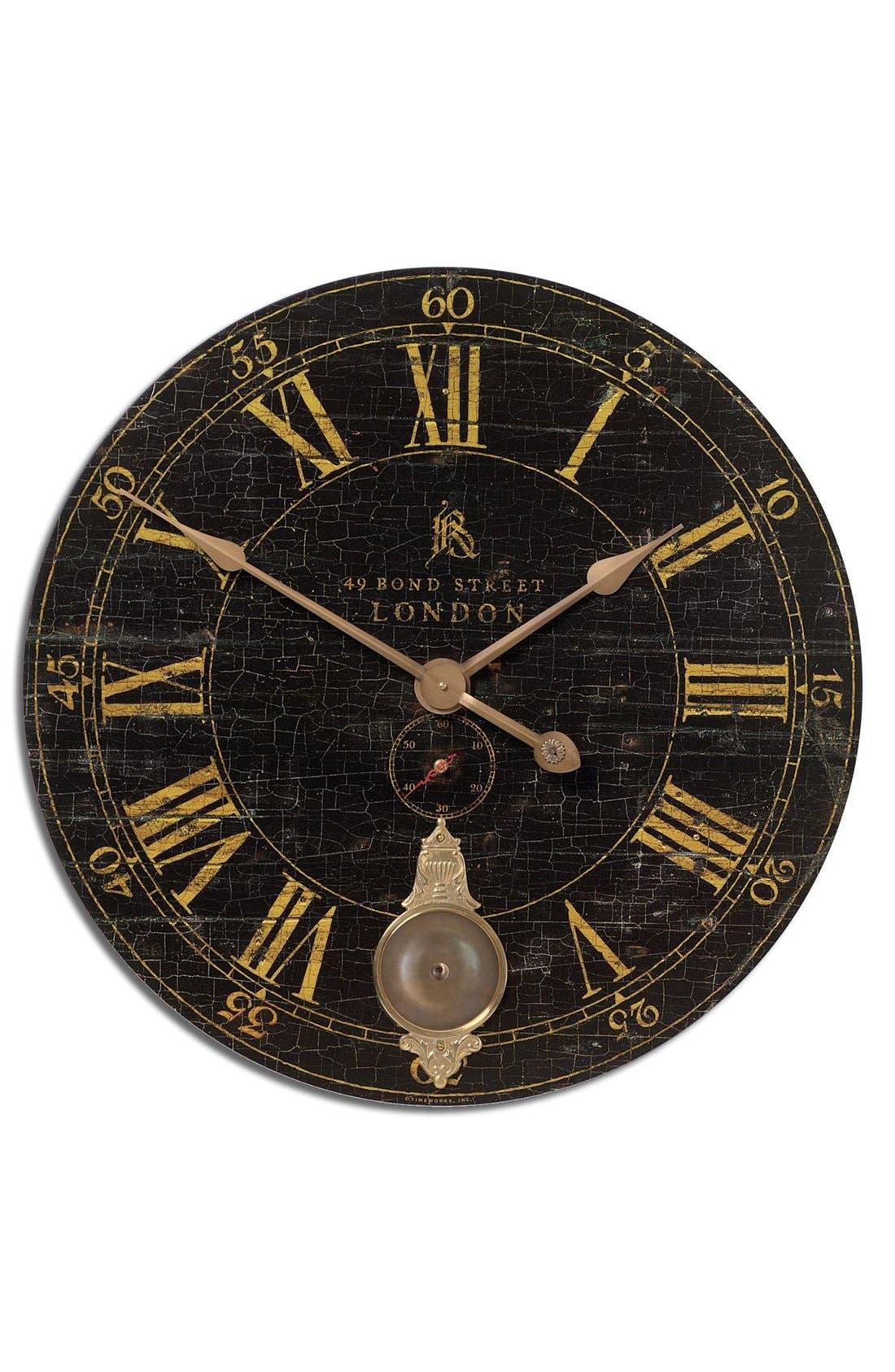 'Bond Street' Wall Clock,                         Main,                         color, Black