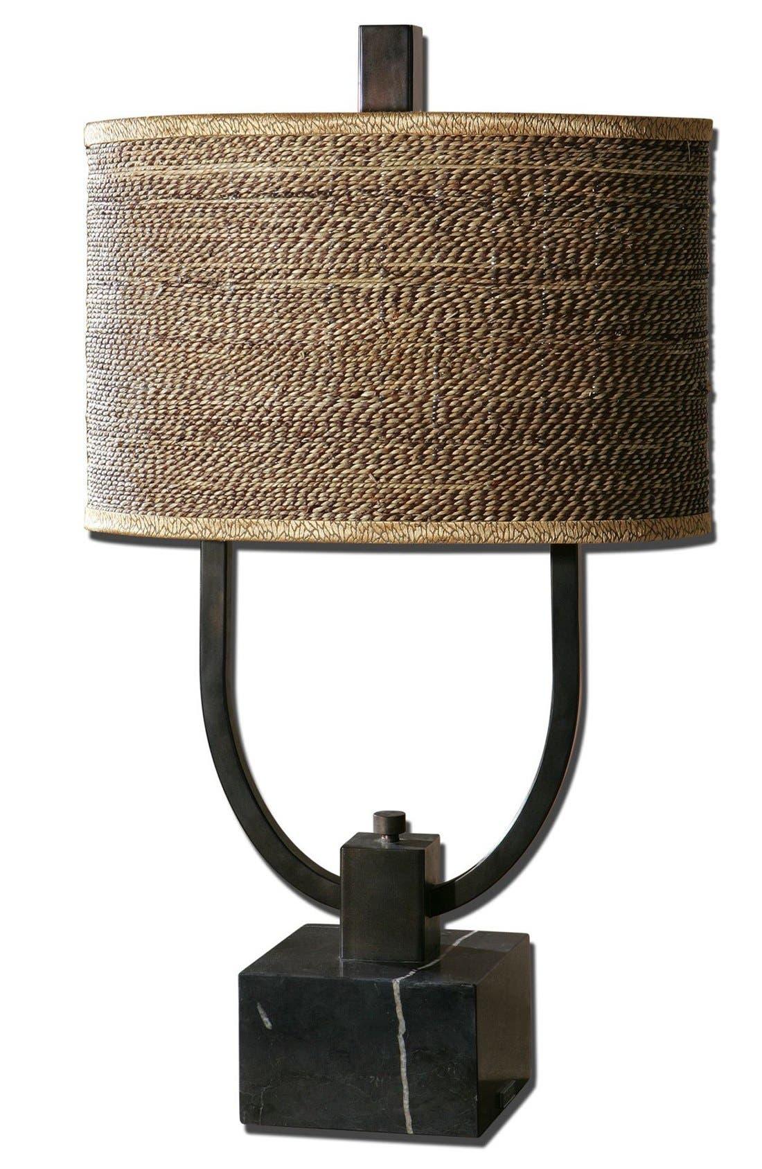 'Stabina' Metal Table Lamp,                             Main thumbnail 1, color,                             Brown