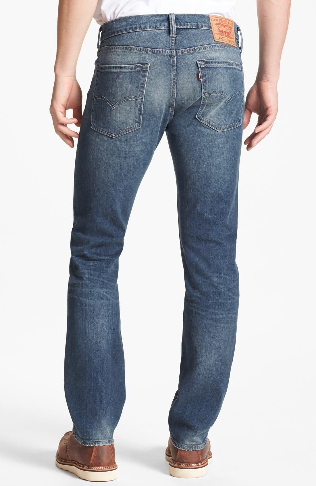 Alternate Image 2  - Levi's® '513™' Slim Fit Jeans (Blue Canyon)
