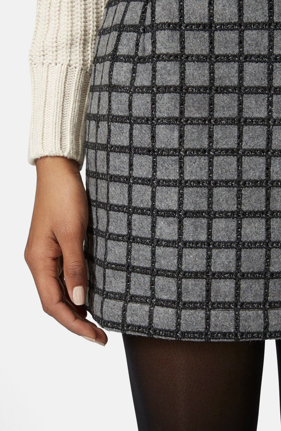 Alternate Image 4  - Topshop Grid Miniskirt
