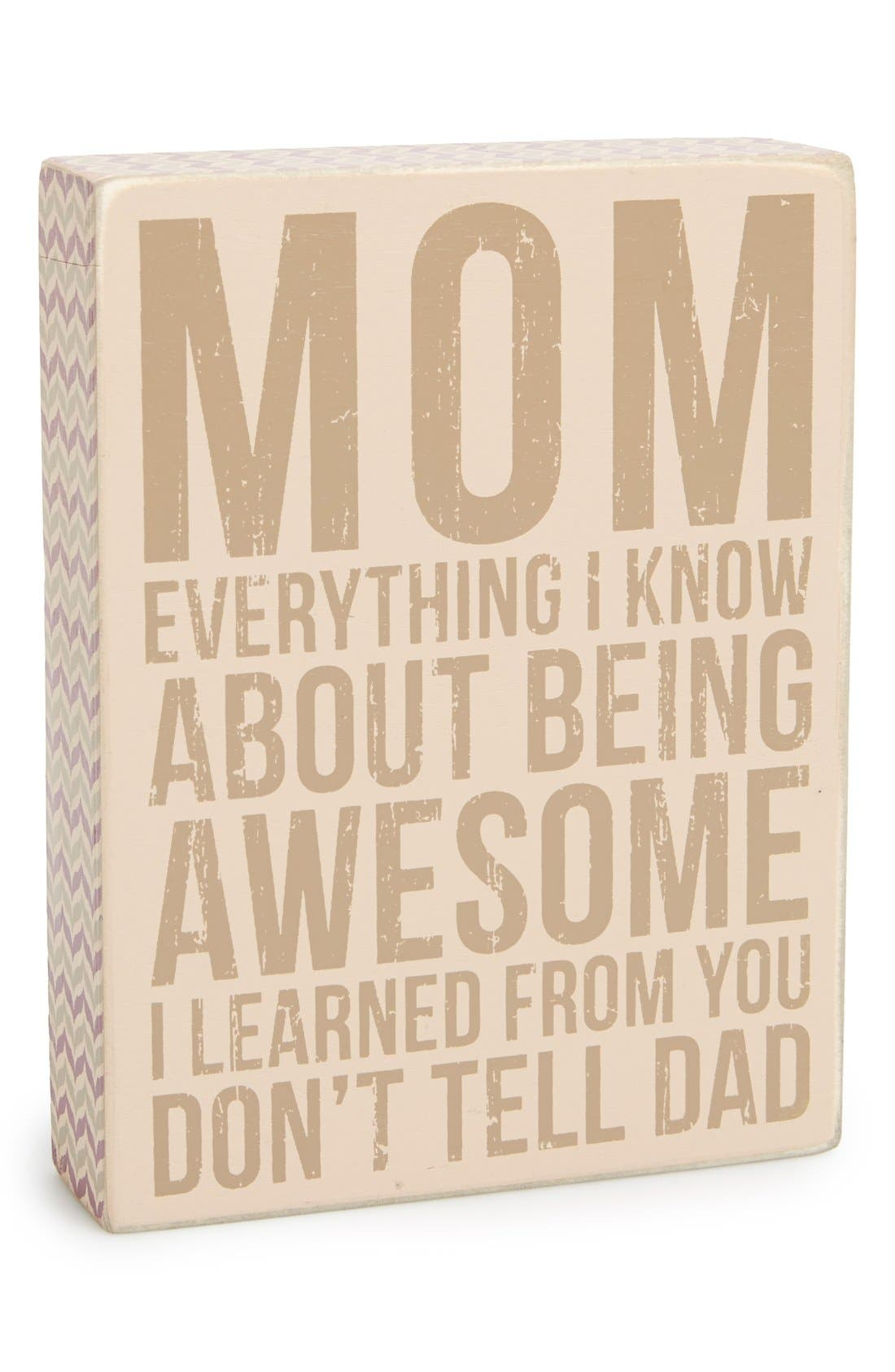Main Image - Primitives by Kathy 'Don't Tell Dad' Box Sign