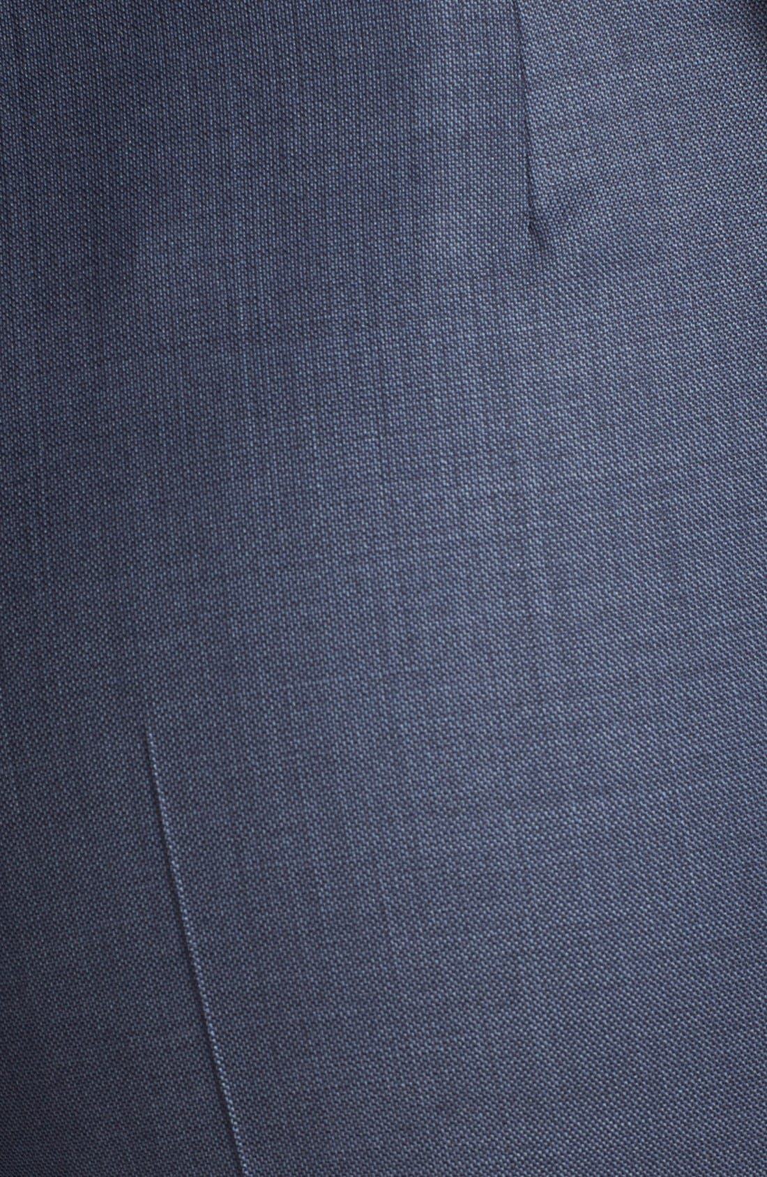 'Temuna' Wool Blend Suiting Trousers,                             Alternate thumbnail 3, color,                             Electric Blue Fantasy Melange